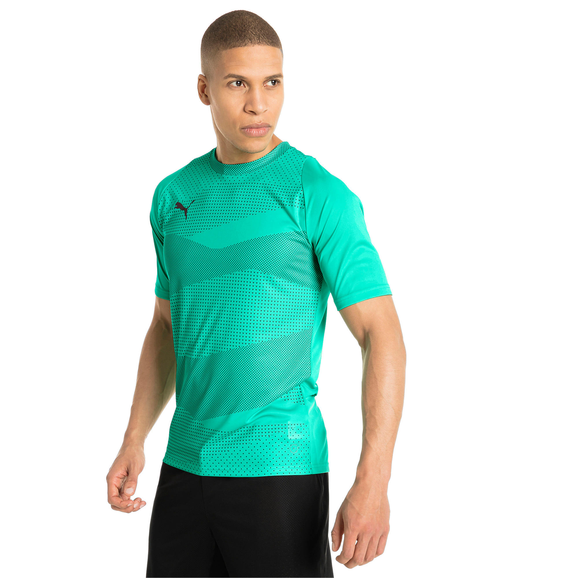 Thumbnail 2 of ftblNXT Graphic Core Men's Training Top, Biscay Green-Iron Gate, medium