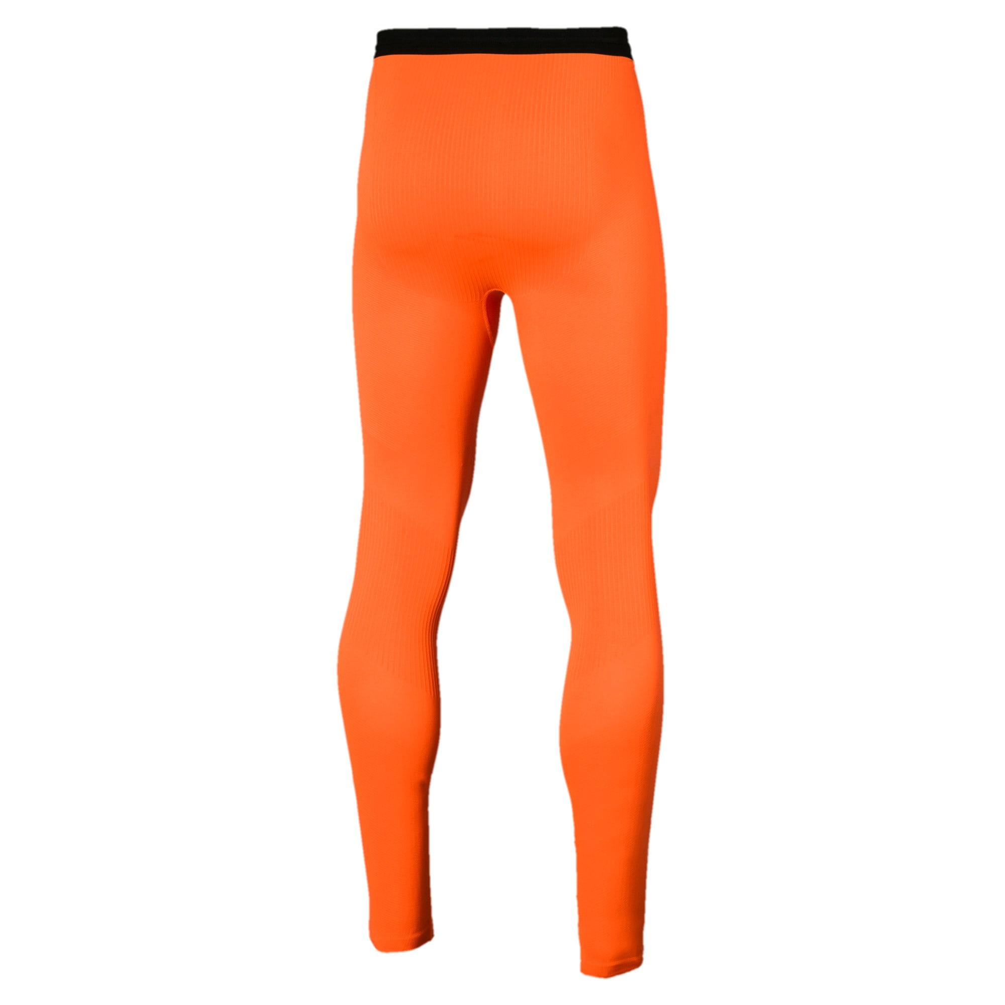 Thumbnail 3 of ftblNXT Long Men's Training Tights, Shocking Orange, medium