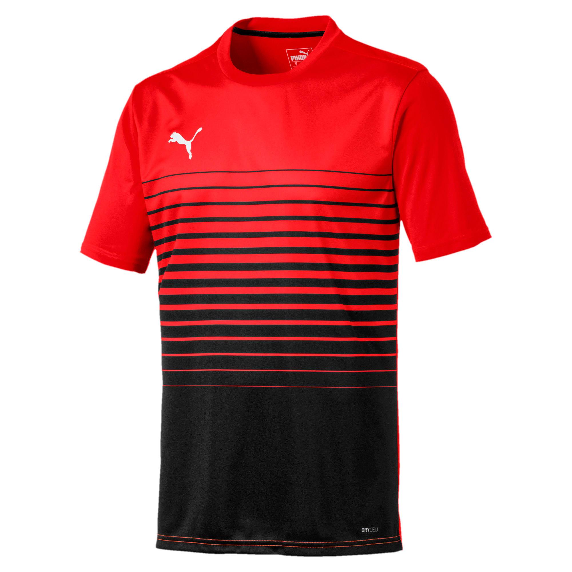 Thumbnail 4 of ftblPLAY Graphic Shirt, Red Blast-Puma Black, medium
