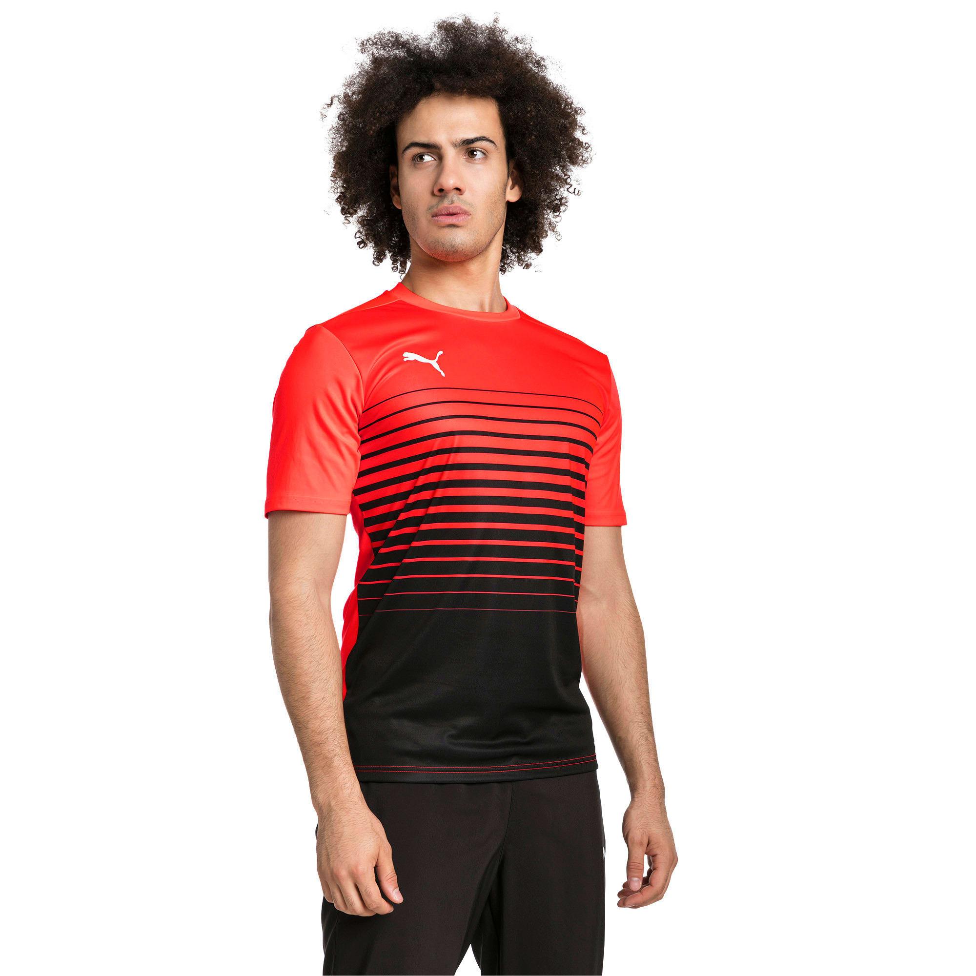 Thumbnail 1 of ftblPLAY Graphic Shirt, Red Blast-Puma Black, medium