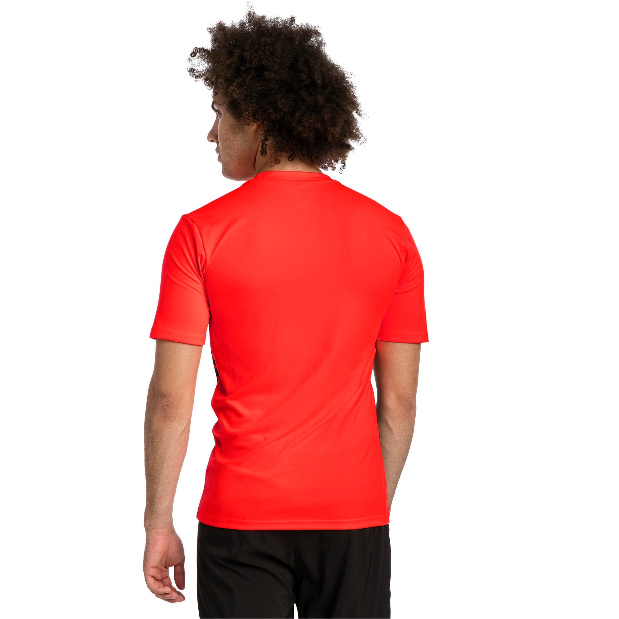 Thumbnail 2 of ftblPLAY Graphic Shirt, Red Blast-Puma Black, medium
