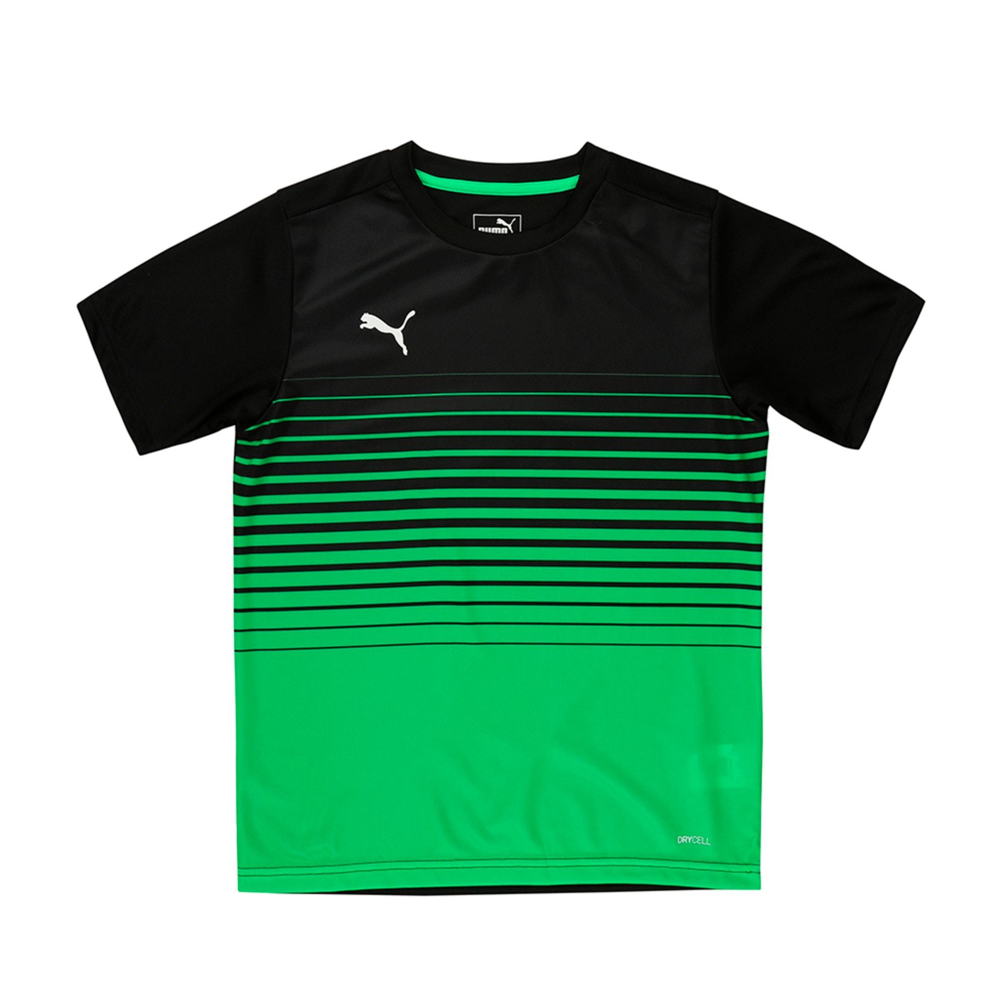 Thumbnail 1 of ftblPLAY Graphic Boys' Shirt, Puma Black-ANDEAN TOUCAN, medium-IND