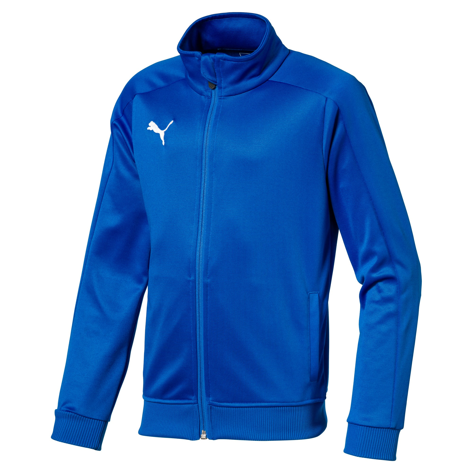 Thumbnail 1 of Football Kids' LIGA Casuals Track Jacket, Electric Blue Lemonade, medium