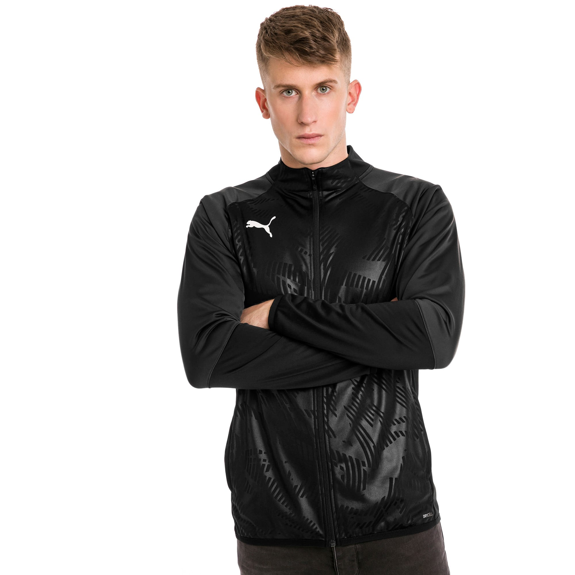 Thumbnail 1 of CUP Training Poly Core Herren Fußball Trainingsjacke, Puma Black-Asphalt, medium