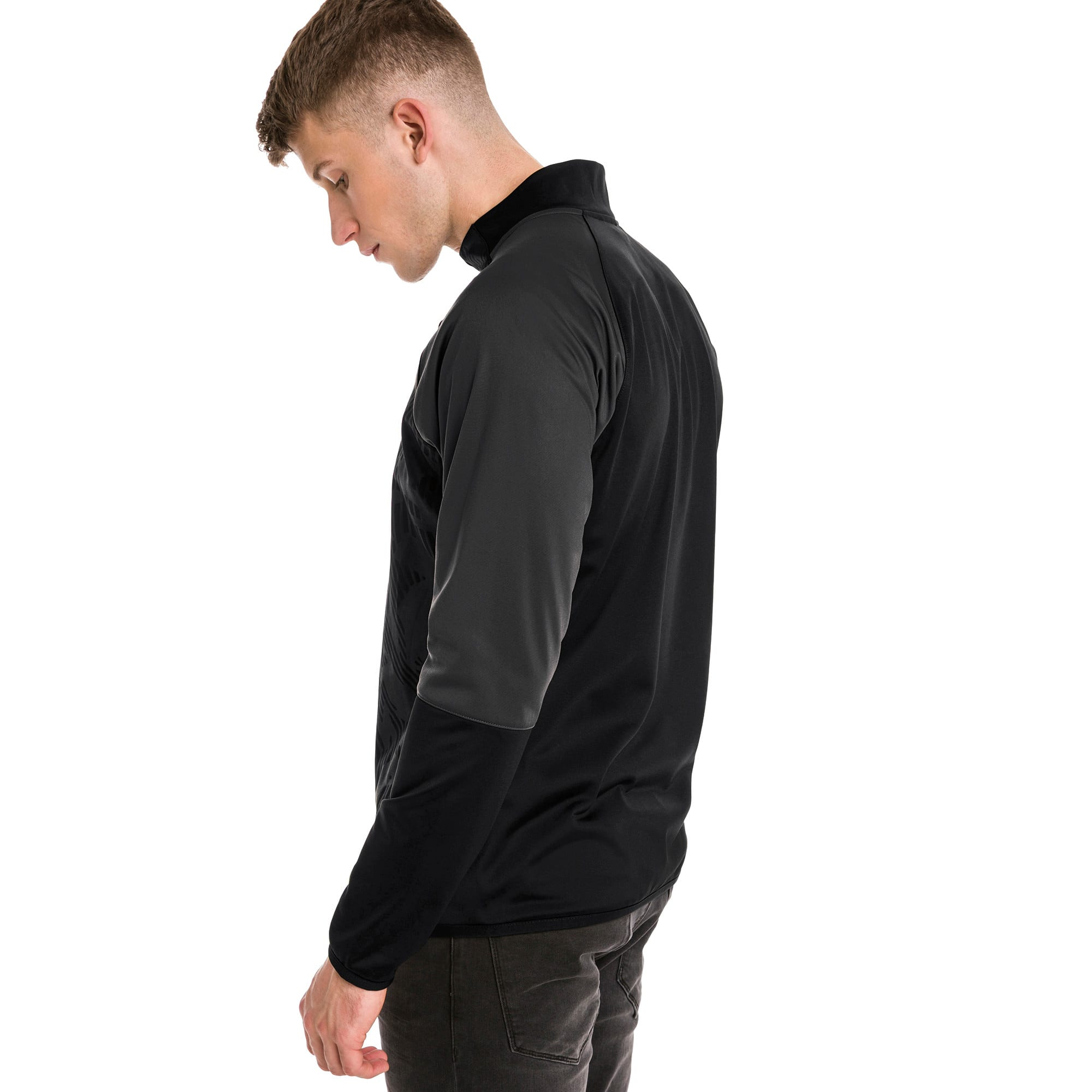 Thumbnail 2 of CUP Training Poly Core Herren Fußball Trainingsjacke, Puma Black-Asphalt, medium