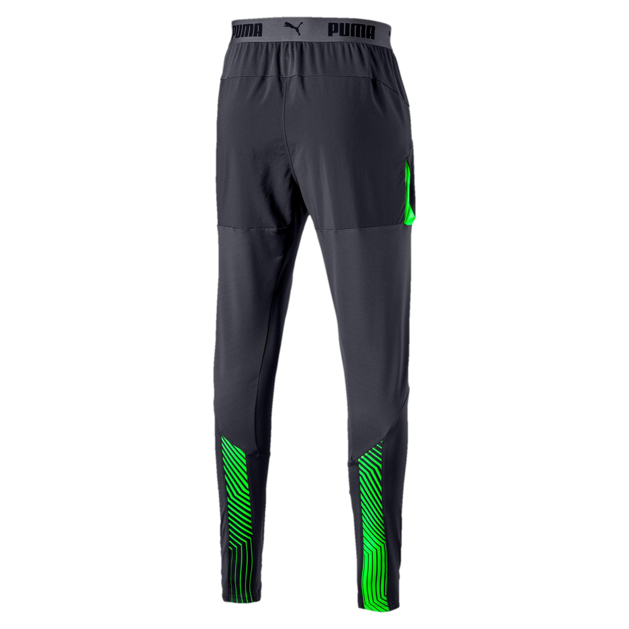 Thumbnail 4 of ftblNXT Men's Pro Training Pants, Ebony-Green Gecko, medium