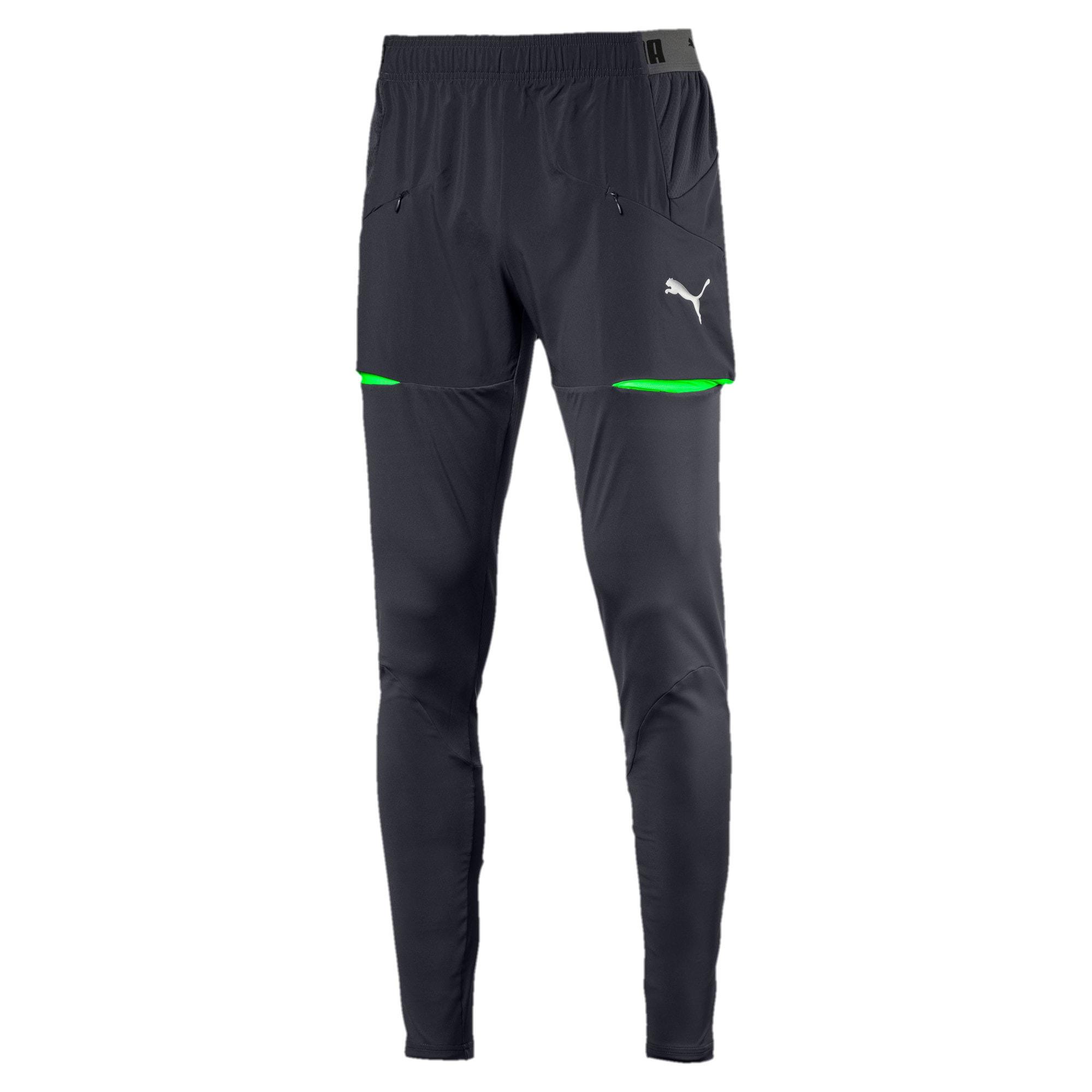 Thumbnail 1 of ftblNXT Men's Pro Training Pants, Ebony-Green Gecko, medium