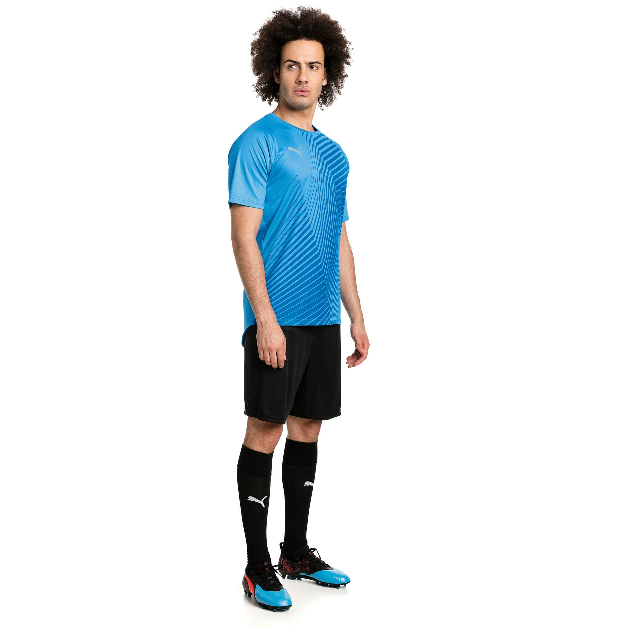 Thumbnail 3 of T-Shirt de foot ftblNXT Core Graphic pour homme, Bleu Azur-Red Blast, medium