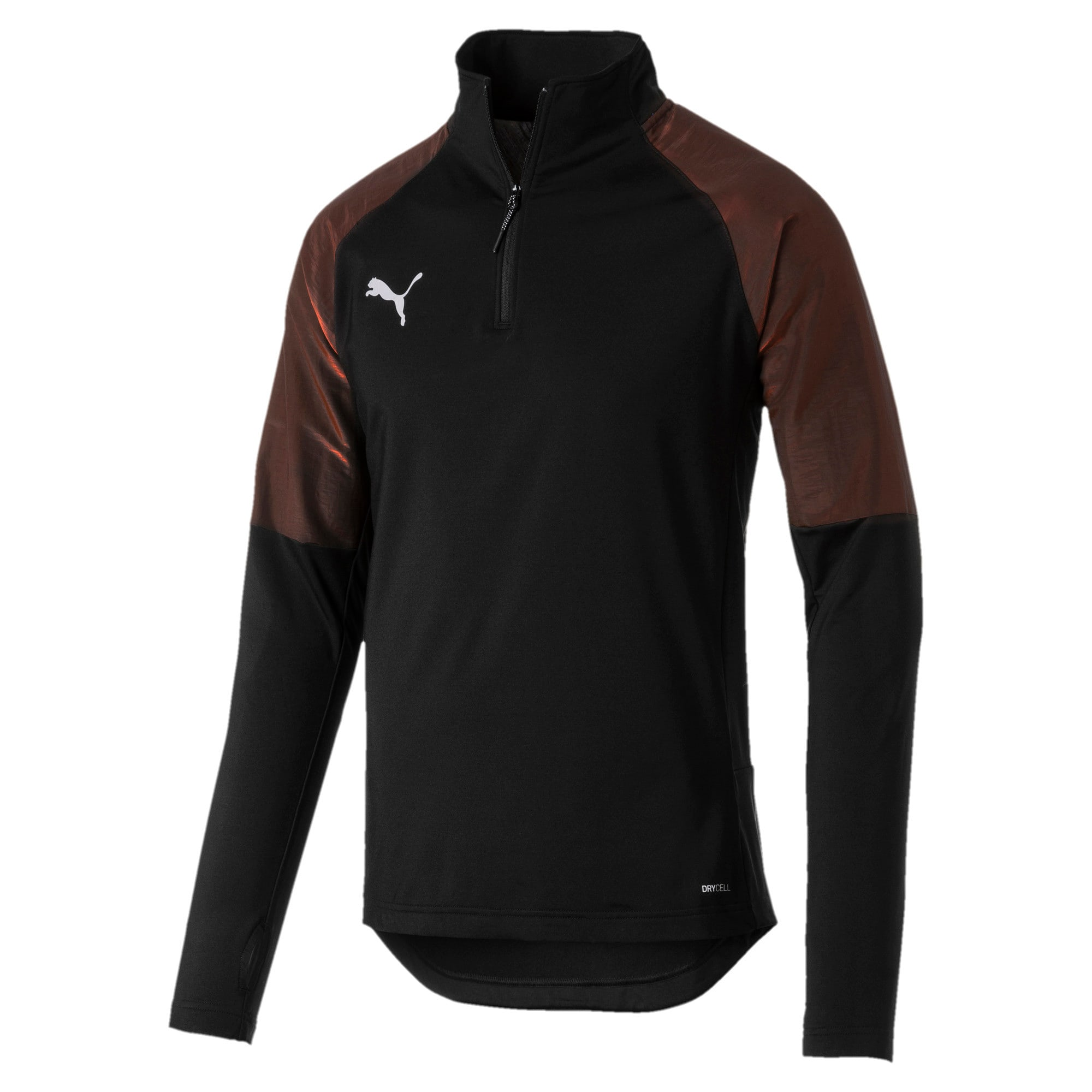 Thumbnail 4 of ftblNXT 1/4 Zip Herren Sweatshirt, Puma Black-Red Blast, medium