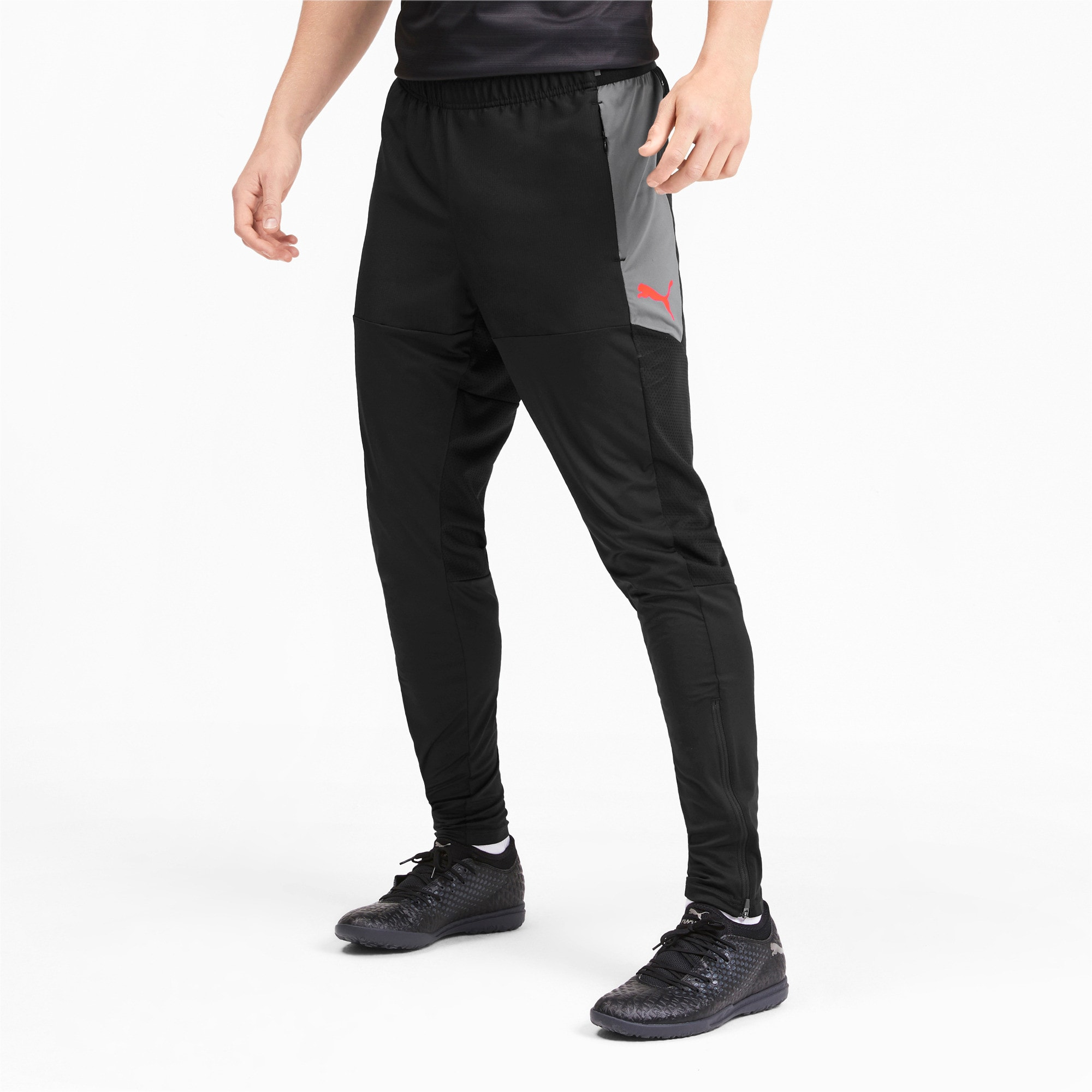 Thumbnail 1 of ftblNXT Men's Pro Pants, Puma Black-Nrgy Red, medium