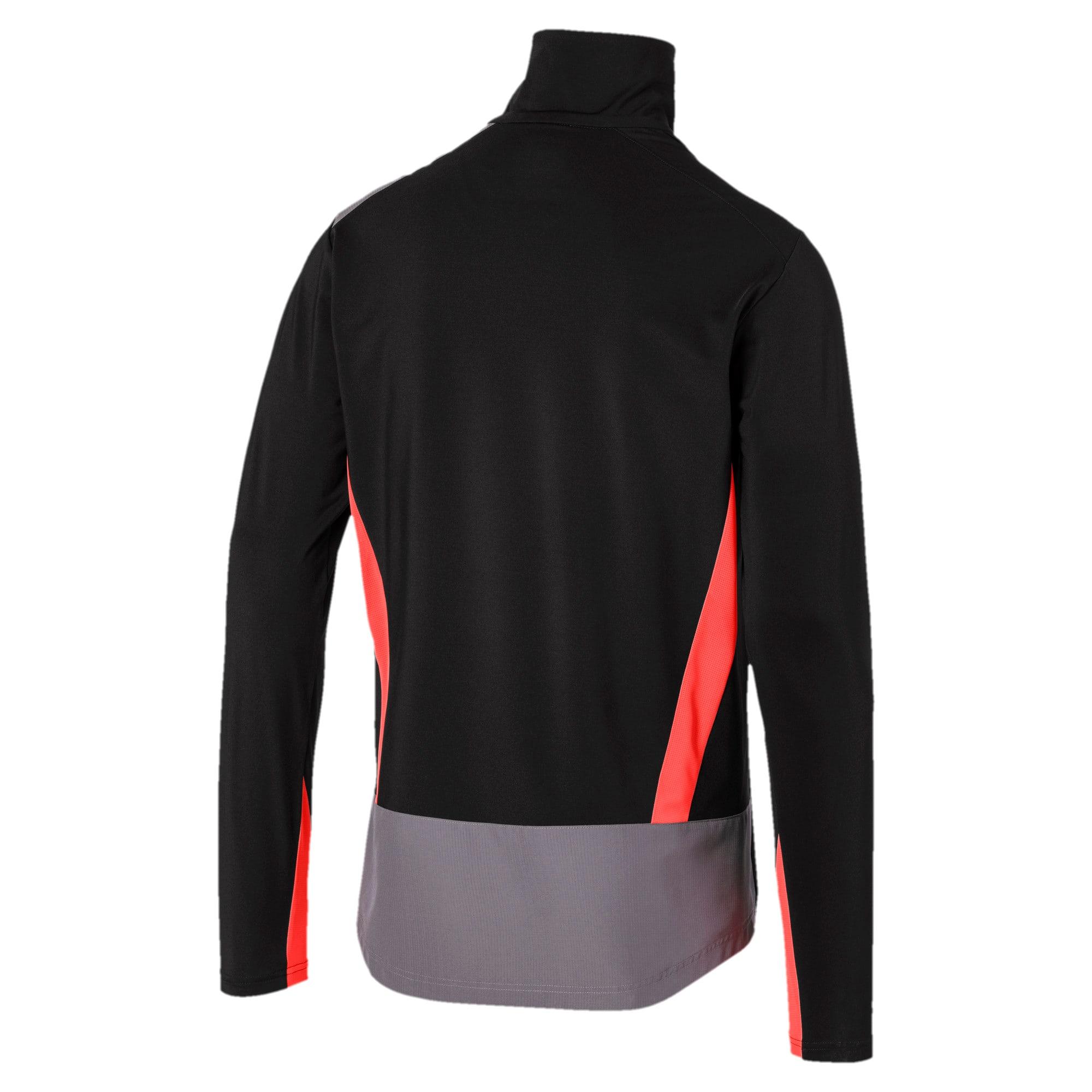 Thumbnail 5 of ftblNXT Quarter Zip Men's Top, Puma Black-Nrgy Red, medium