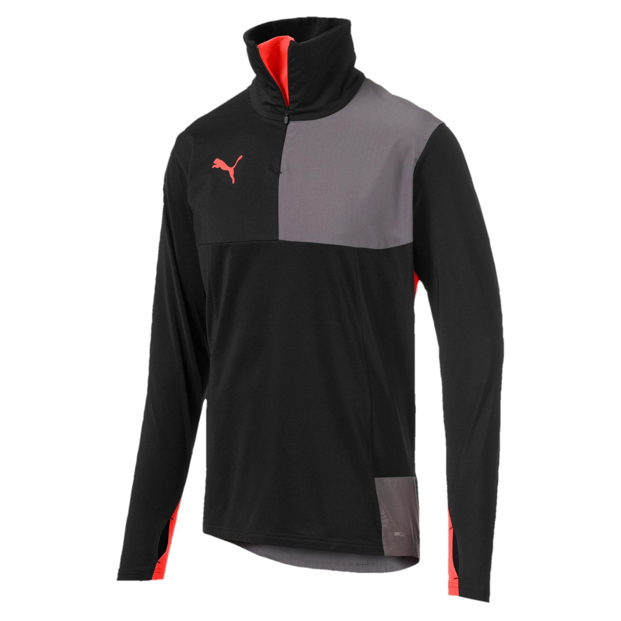 Thumbnail 4 of ftblNXT Quarter Zip Men's Top, Puma Black-Nrgy Red, medium