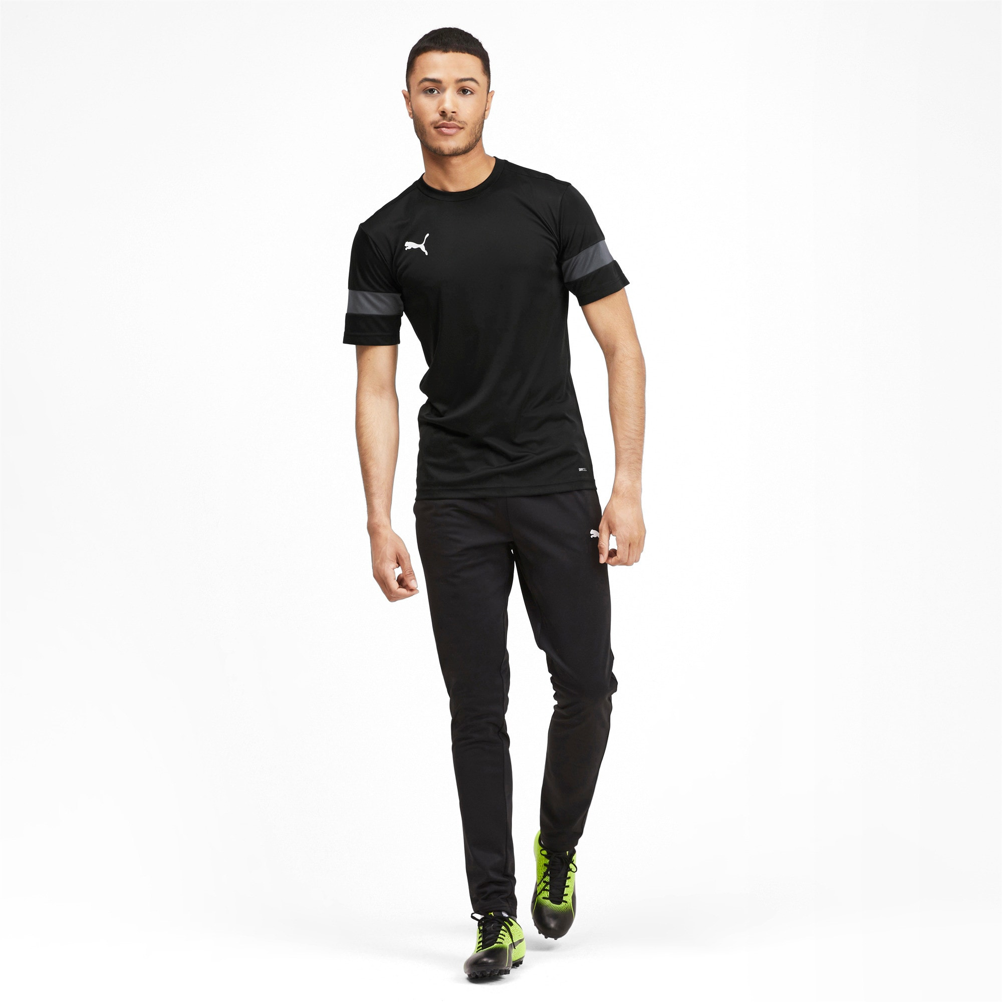 Thumbnail 3 of Herren Trainingsshirt, Puma Black-Asphalt, medium