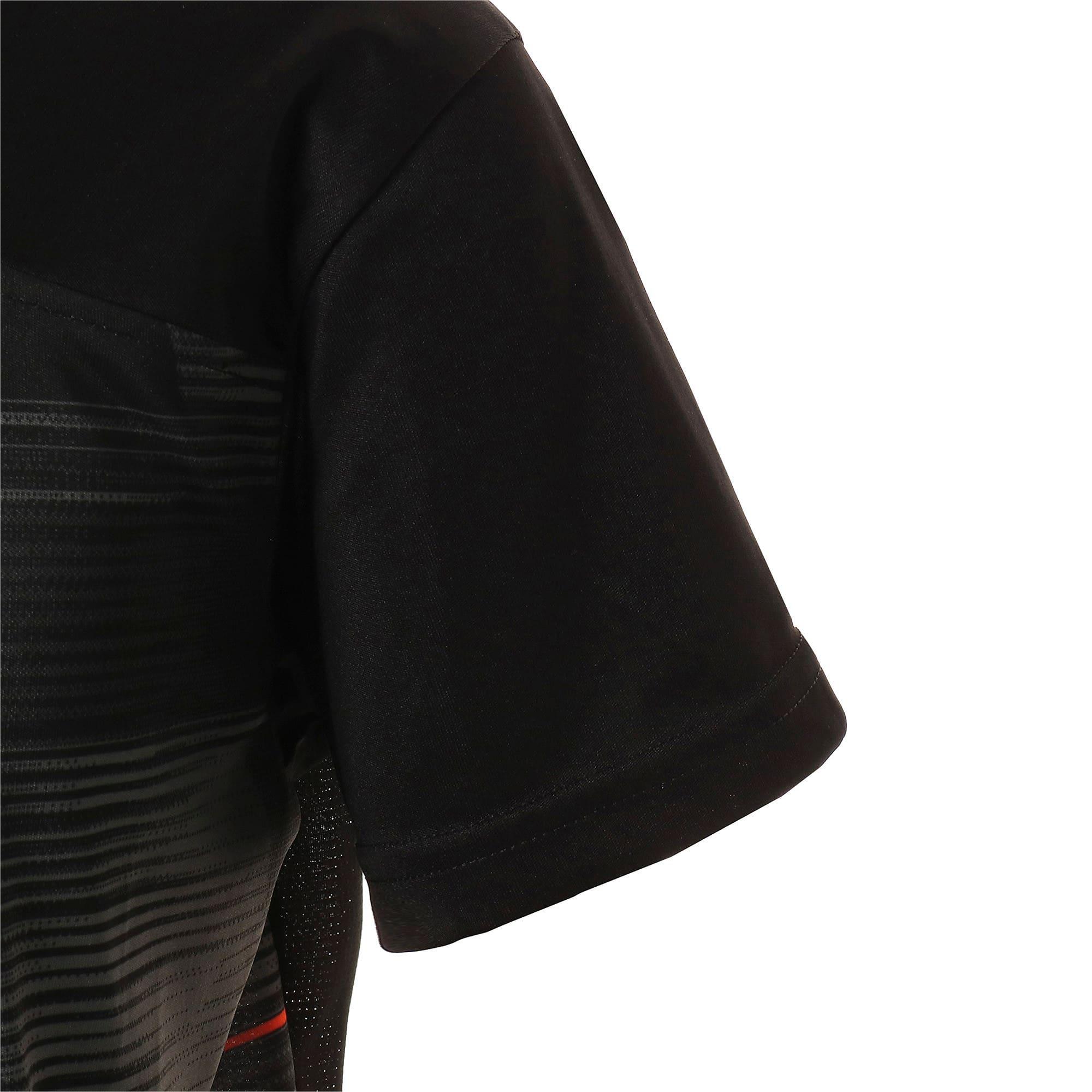 Thumbnail 5 of キッズ FTBLNXT ジュニア グラフィック シャツ, Puma Black-Nrgy Red, medium-JPN