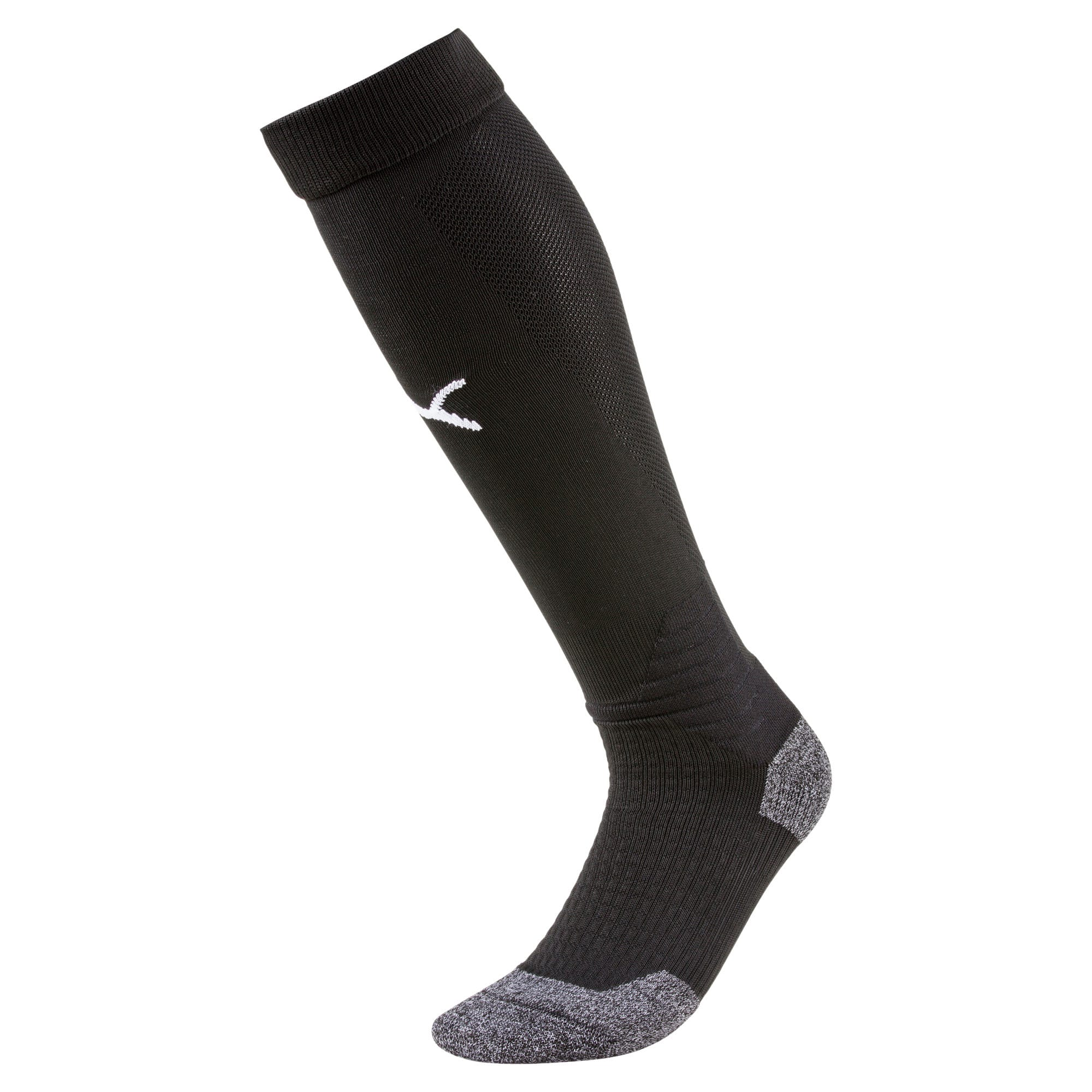 Thumbnail 1 of Liga Soccer Socks [1 Pair], Puma Black-Puma White, medium