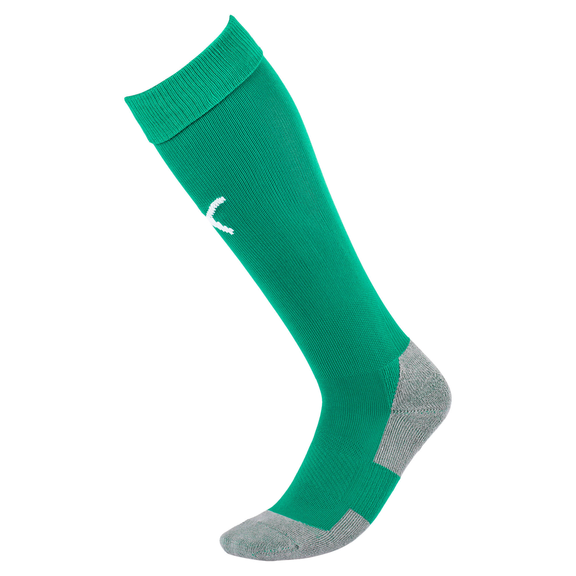 Thumbnail 1 of Football Men's LIGA Core Socks, Bright Green-Puma White, medium
