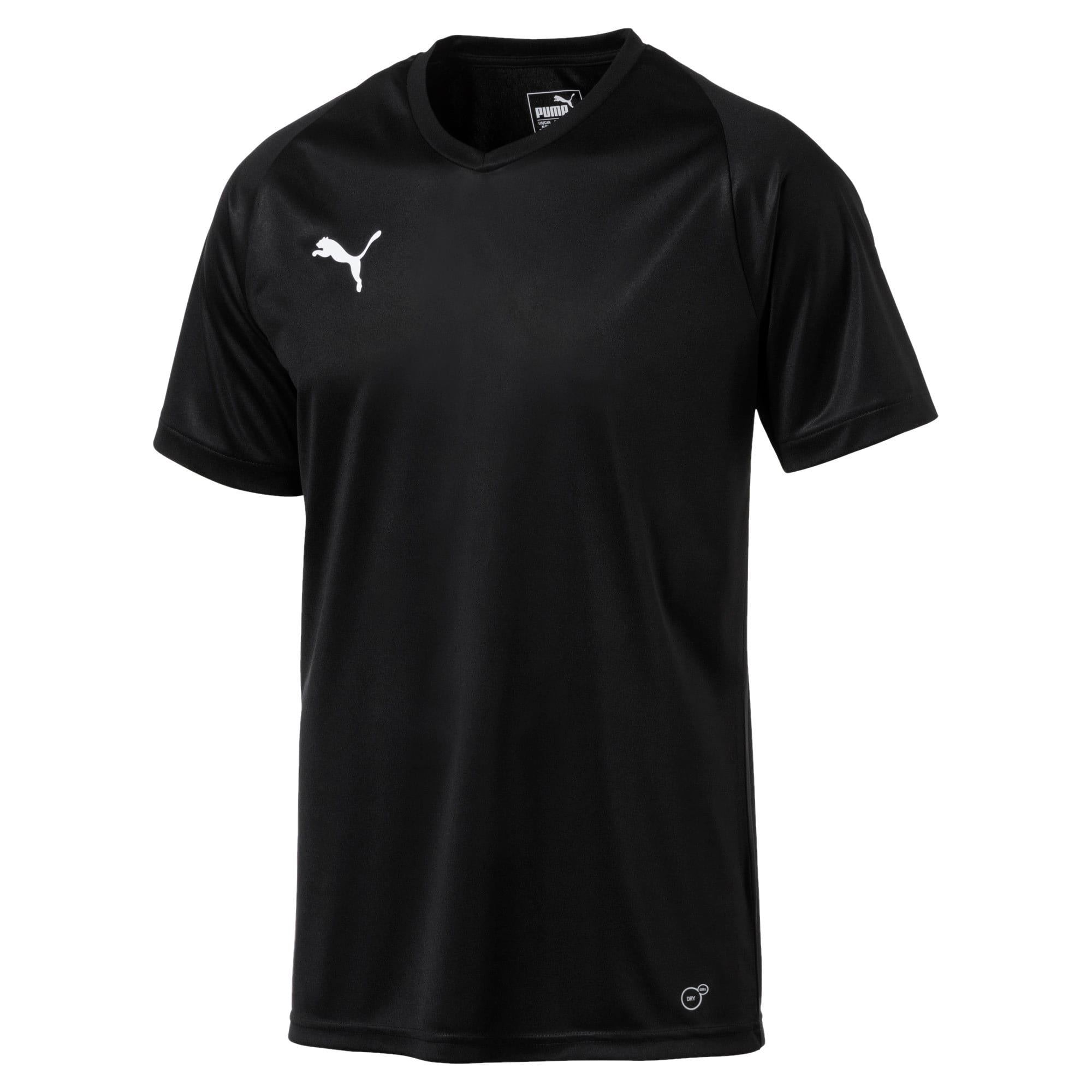 Thumbnail 4 of Liga Core Men's Jersey, Puma Black-Puma White, medium