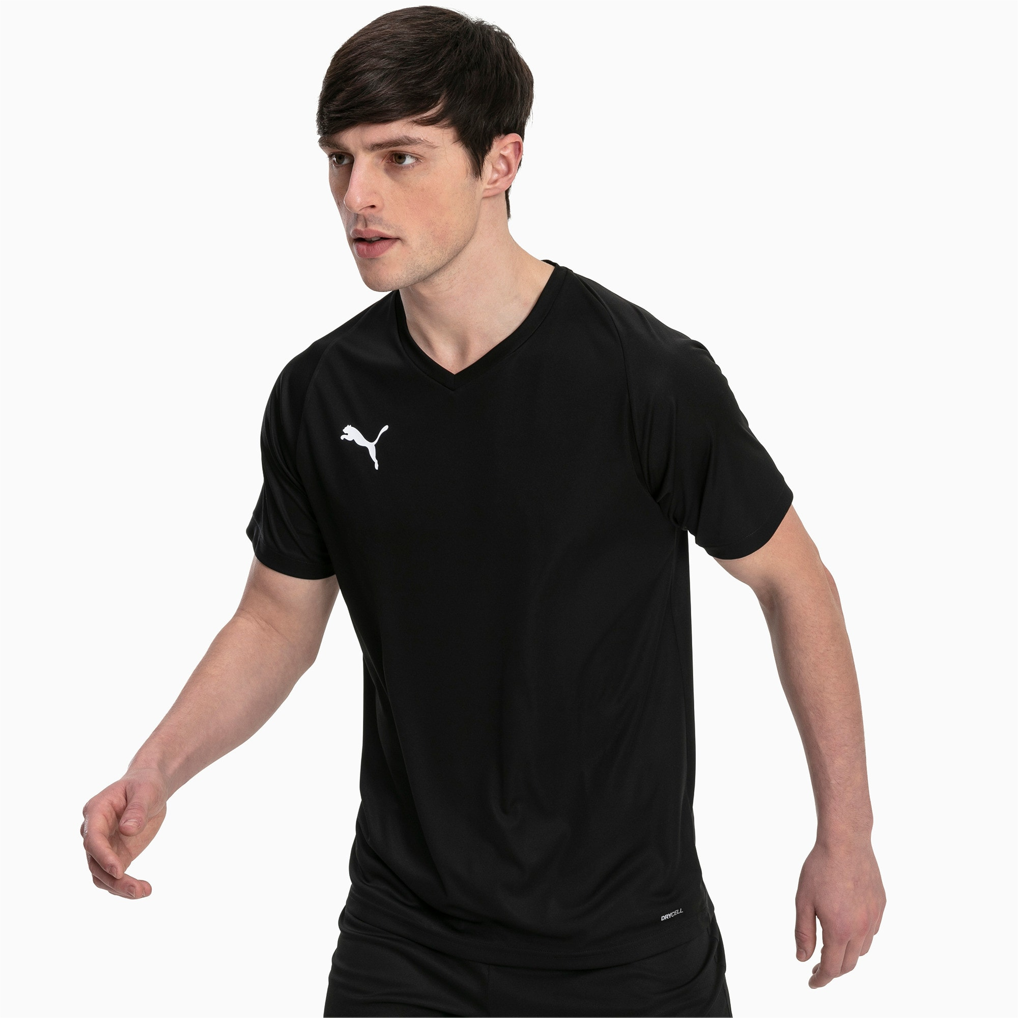 Thumbnail 1 of Liga Core Men's Jersey, Puma Black-Puma White, medium