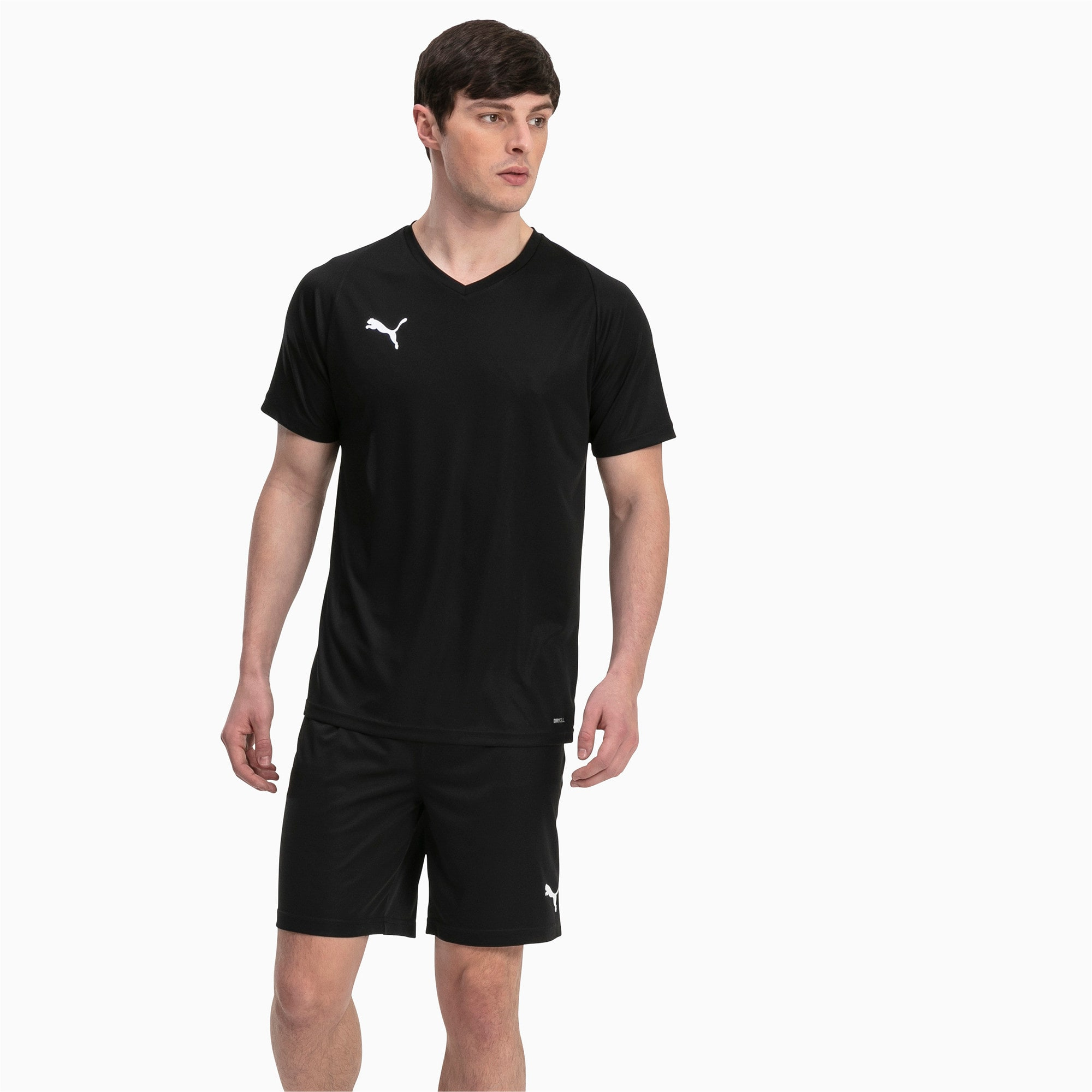 Thumbnail 3 of Liga Core Men's Jersey, Puma Black-Puma White, medium