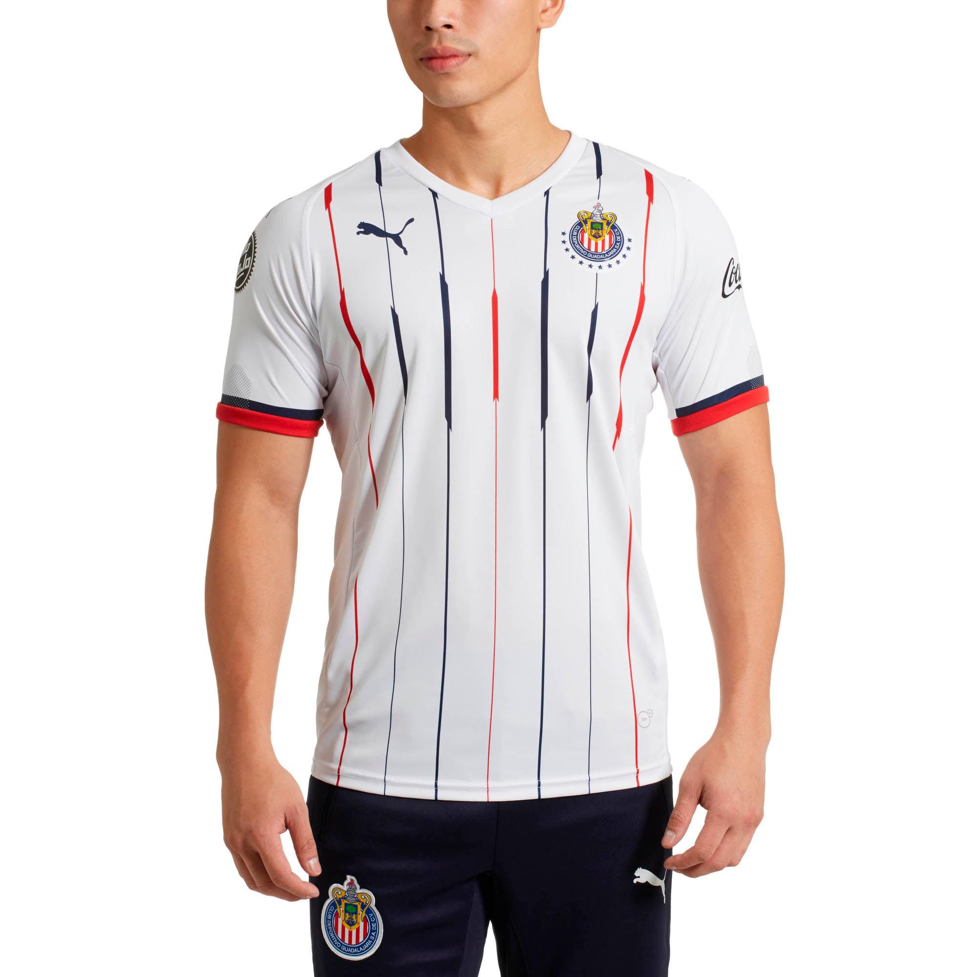 Miniatura 2 de Réplica de camiseta devisitante de Chivaspara hombre, Blanco- Rojo-New Navy, mediano
