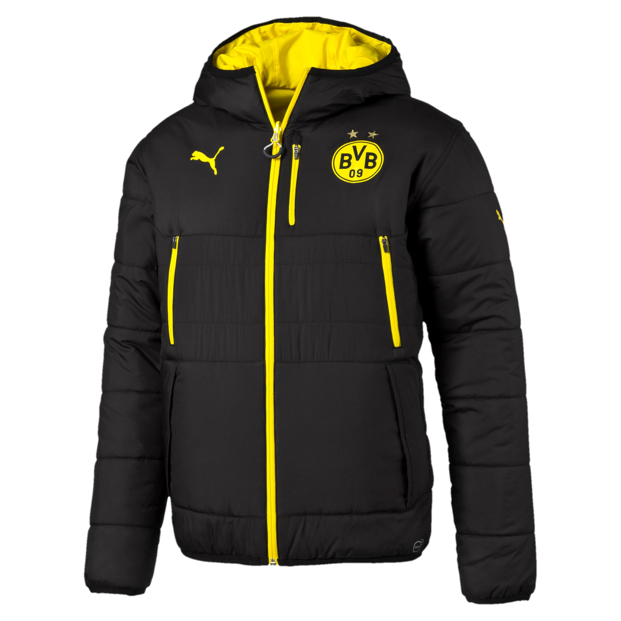 colore nero Giacca a vento BVB Borussia Dortmund Calcio Fan Shop ...