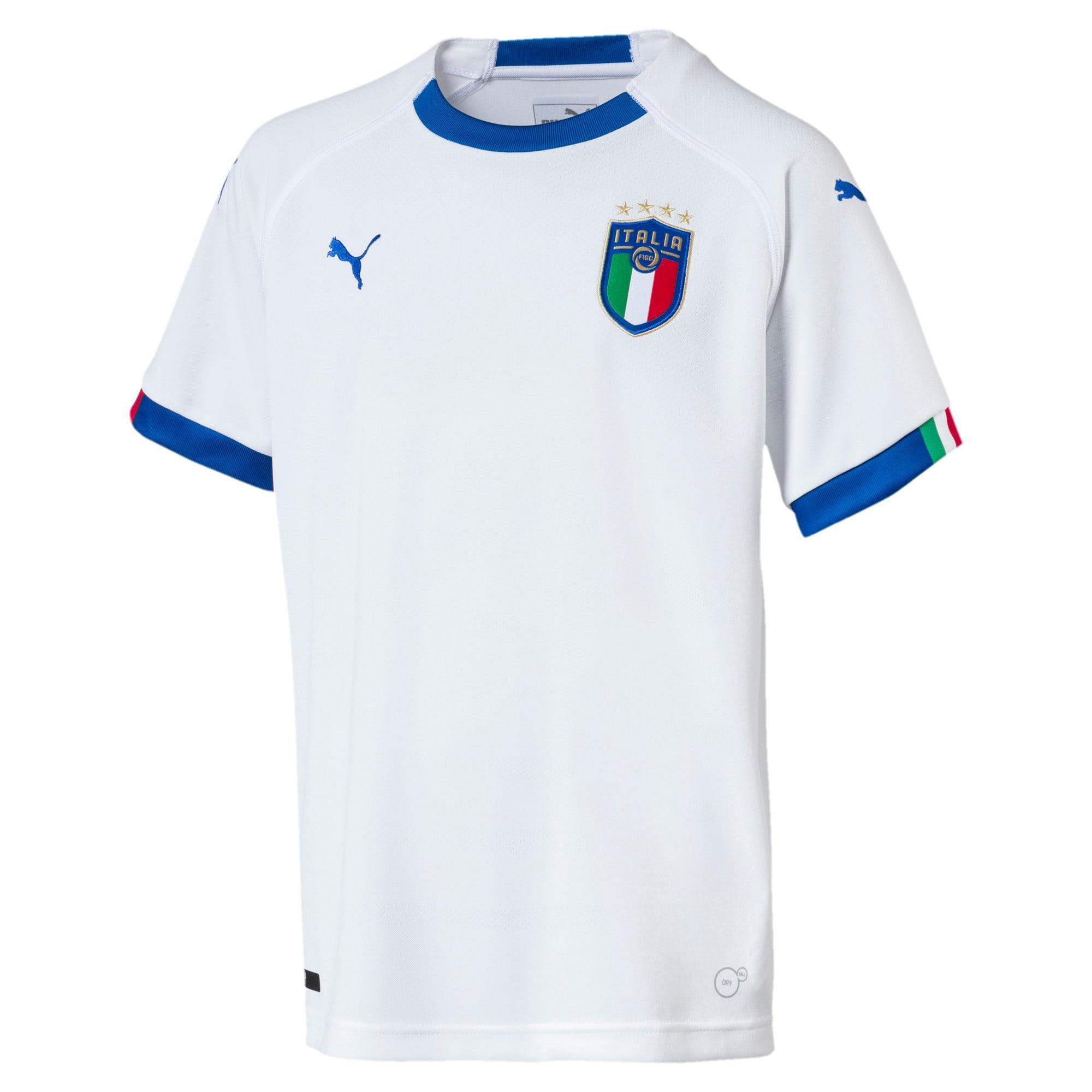 Thumbnail 1 of FIGC Italia Kids' Away Shirt, Puma White-Team Power Blue, medium