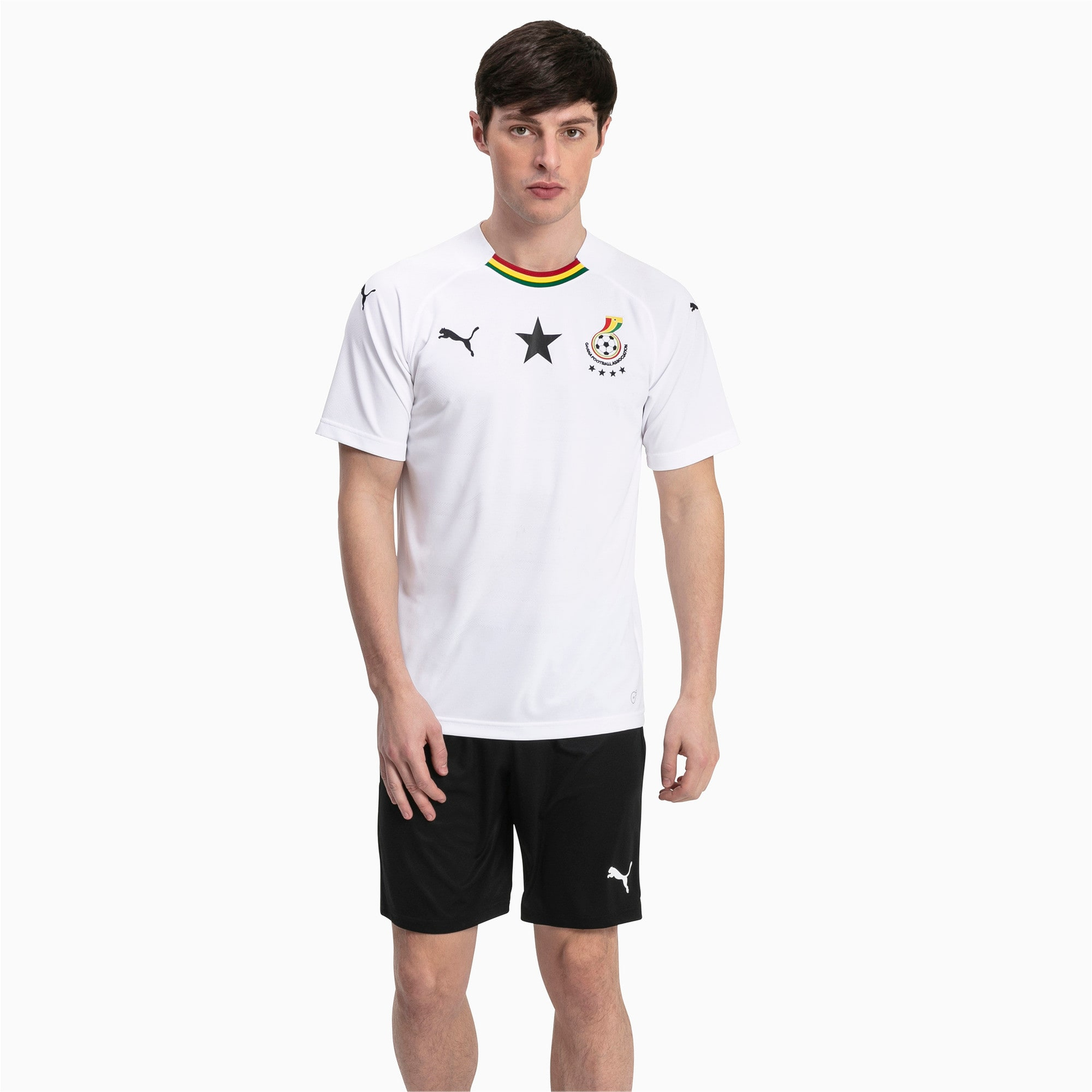 Thumbnail 3 of Ghana Men's Away Replica Jersey, Puma White, medium