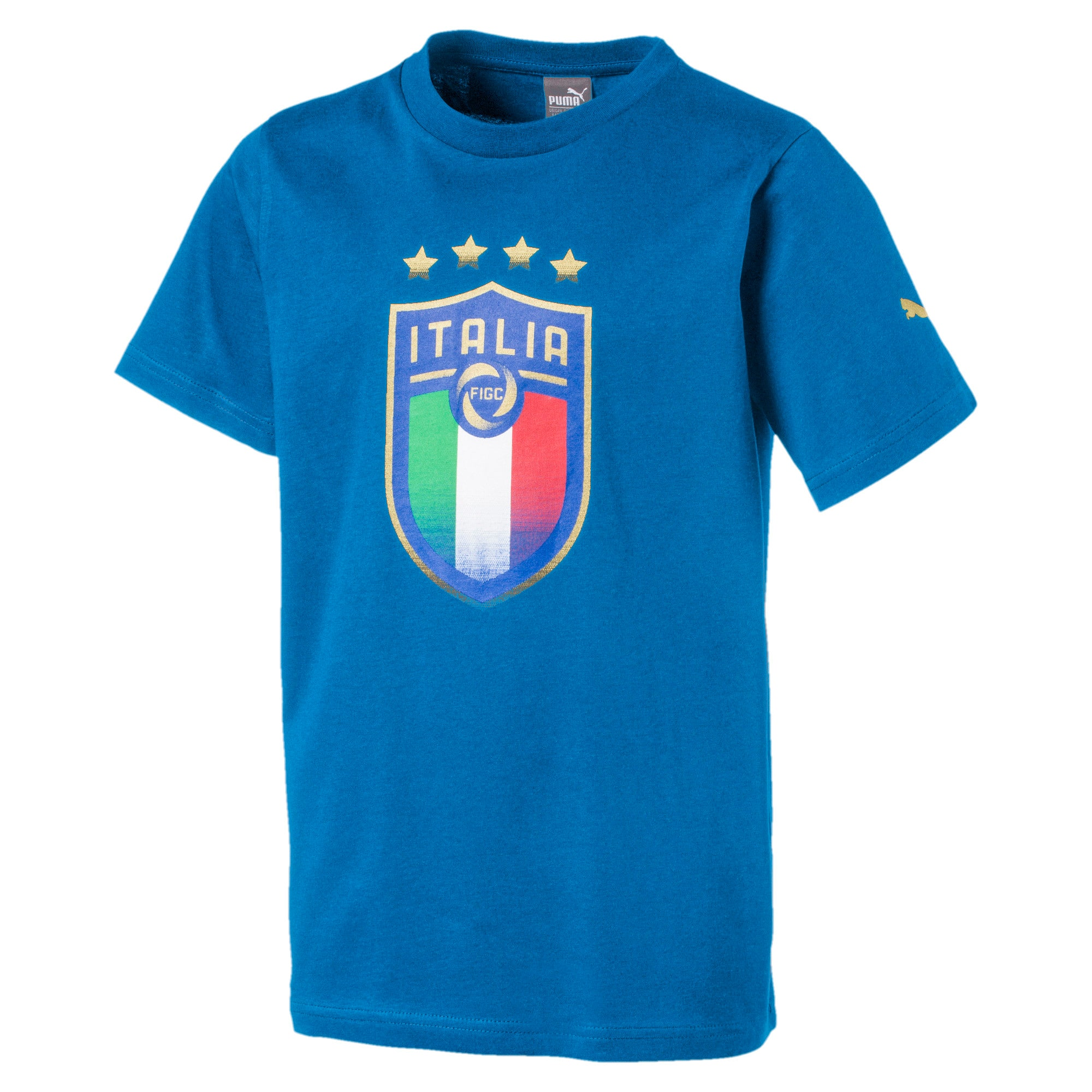Thumbnail 1 of Italia Badge Tee Jr, Team Power Blue, medium