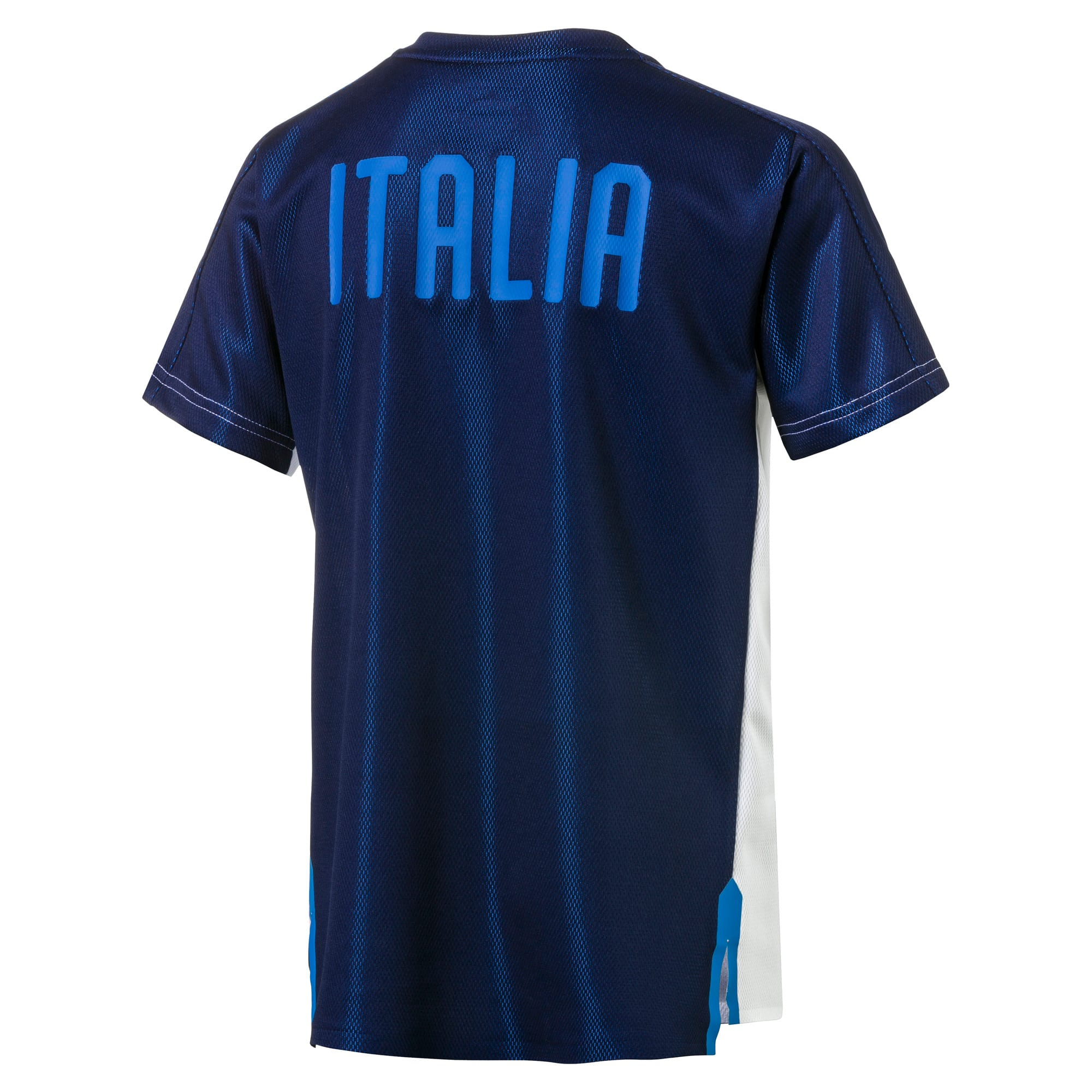 Thumbnail 2 of Italia Short Sleeve Stadium Jersey Jr, Puma White, medium