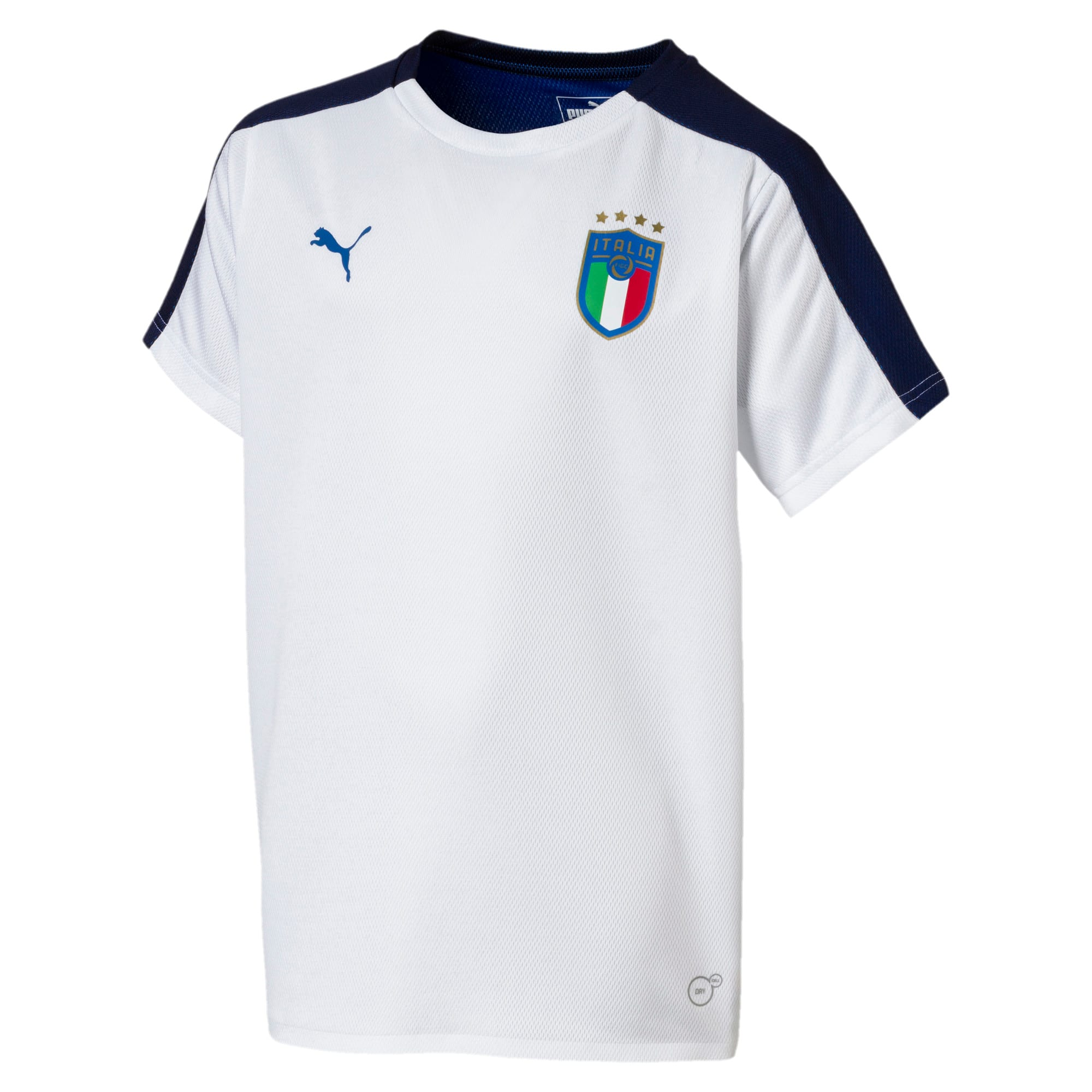 Thumbnail 3 of Italia Short Sleeve Stadium Jersey Jr, Puma White, medium
