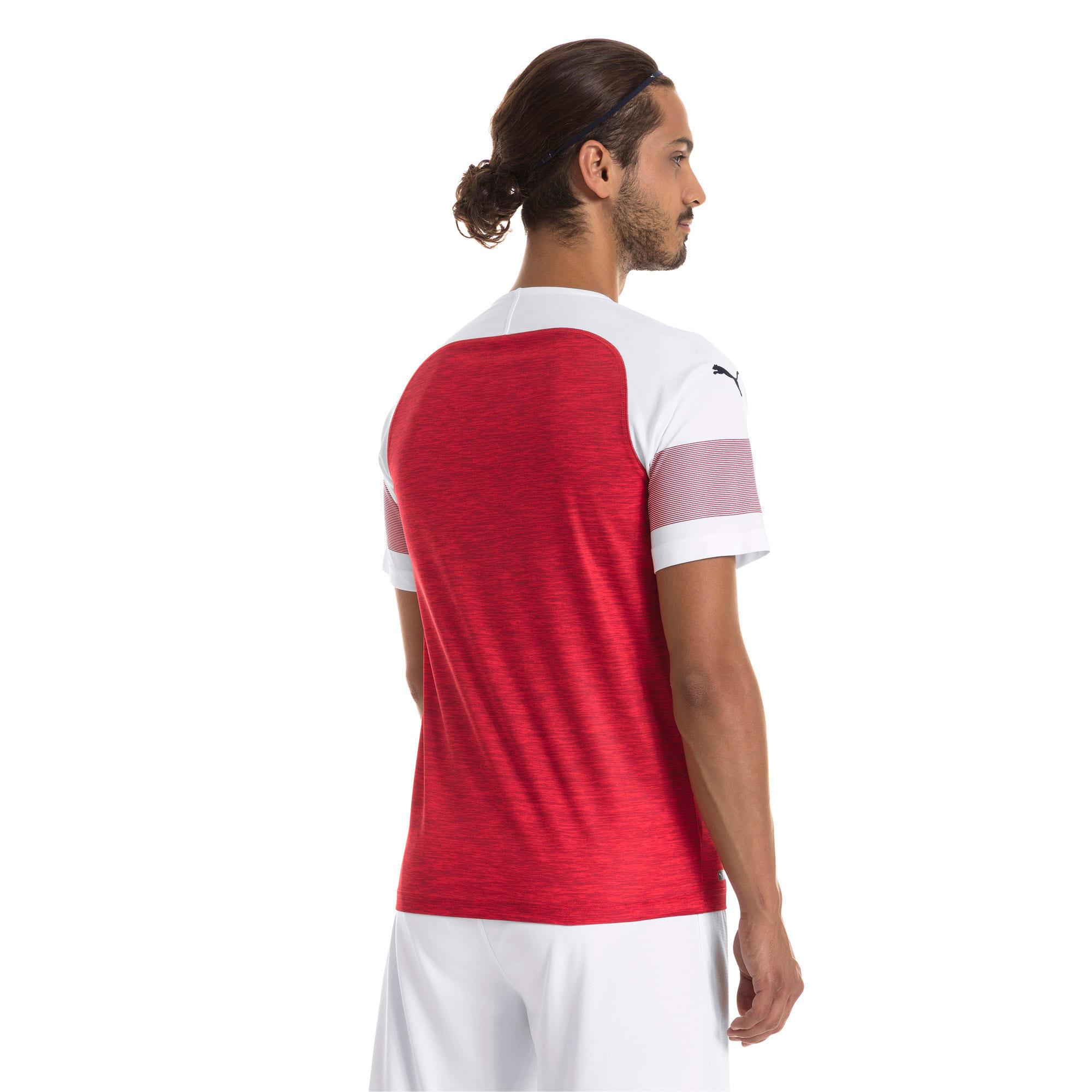 Thumbnail 2 of Arsenal 2018/19 Home Replica Jersey, -Chili Pepper Heather-White, medium