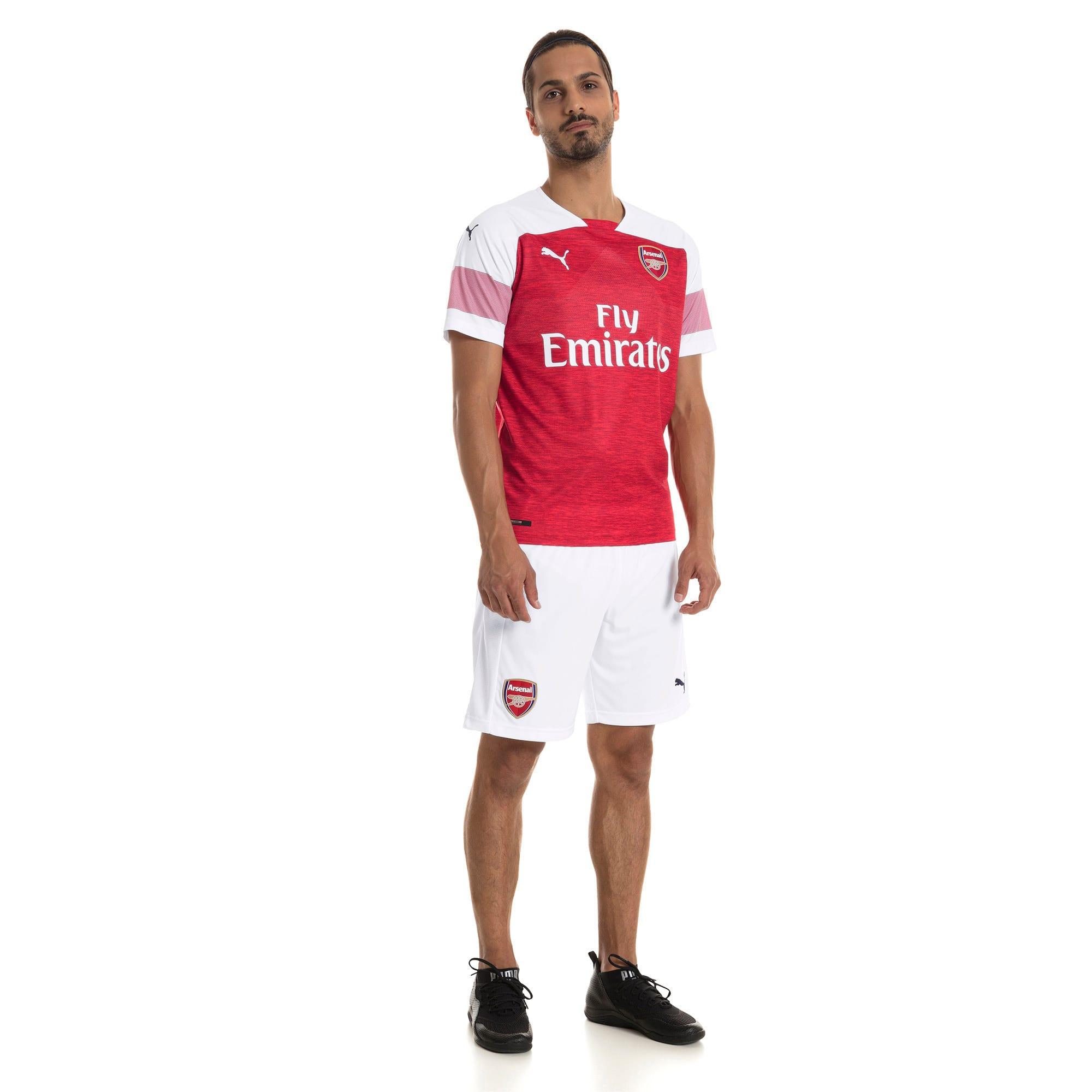 Thumbnail 3 of Arsenal 2018/19 Home Replica Jersey, -Chili Pepper Heather-White, medium