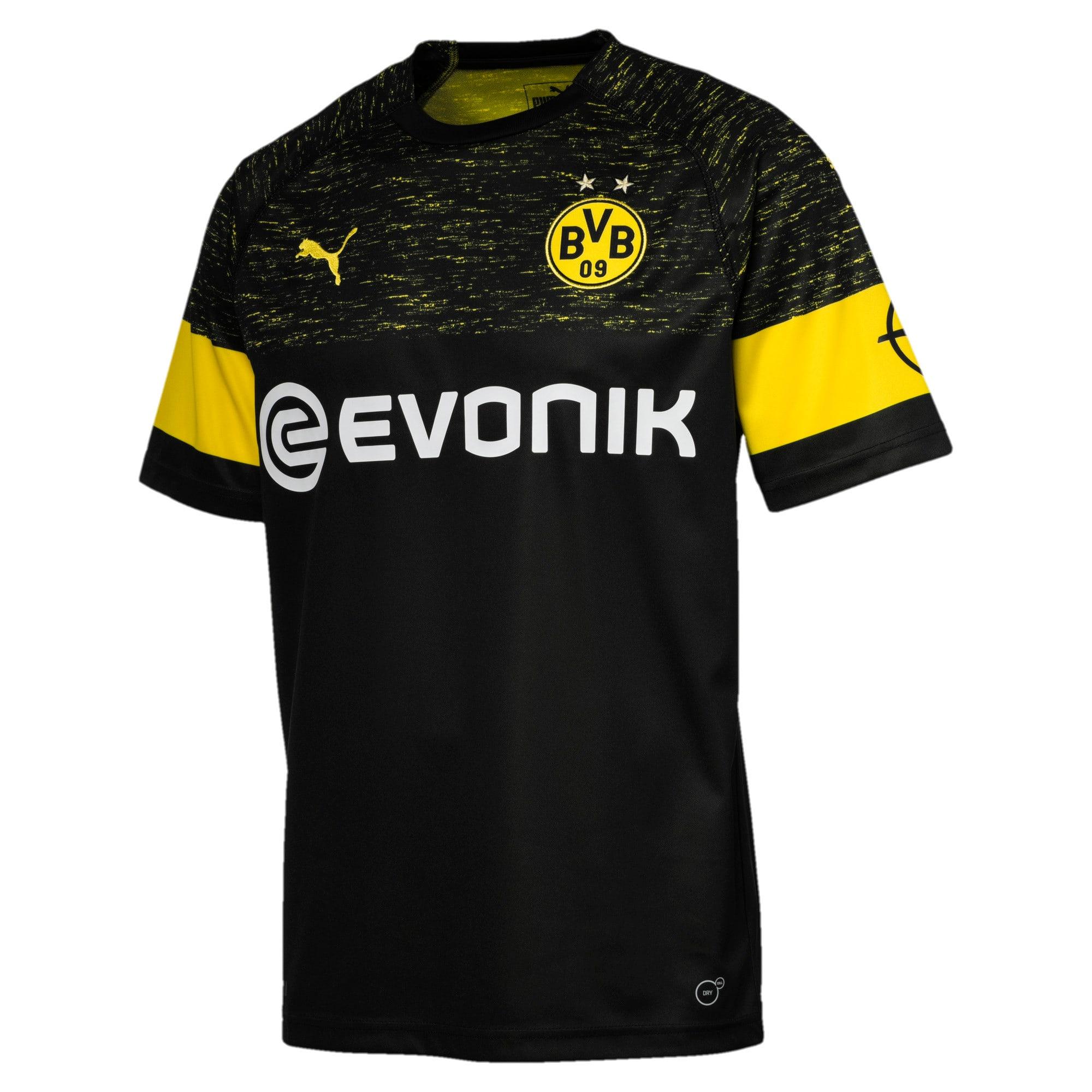 Thumbnail 2 of BVB Men's Replica Away Shirt, Puma Black, medium