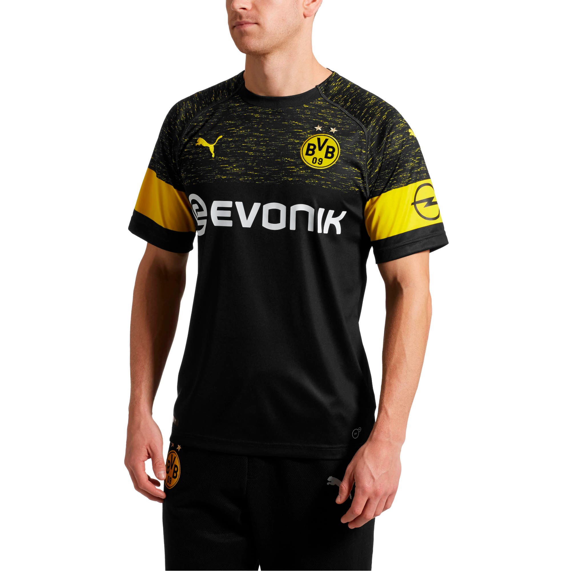Thumbnail 1 of BVB Men's Replica Away Shirt, Puma Black, medium