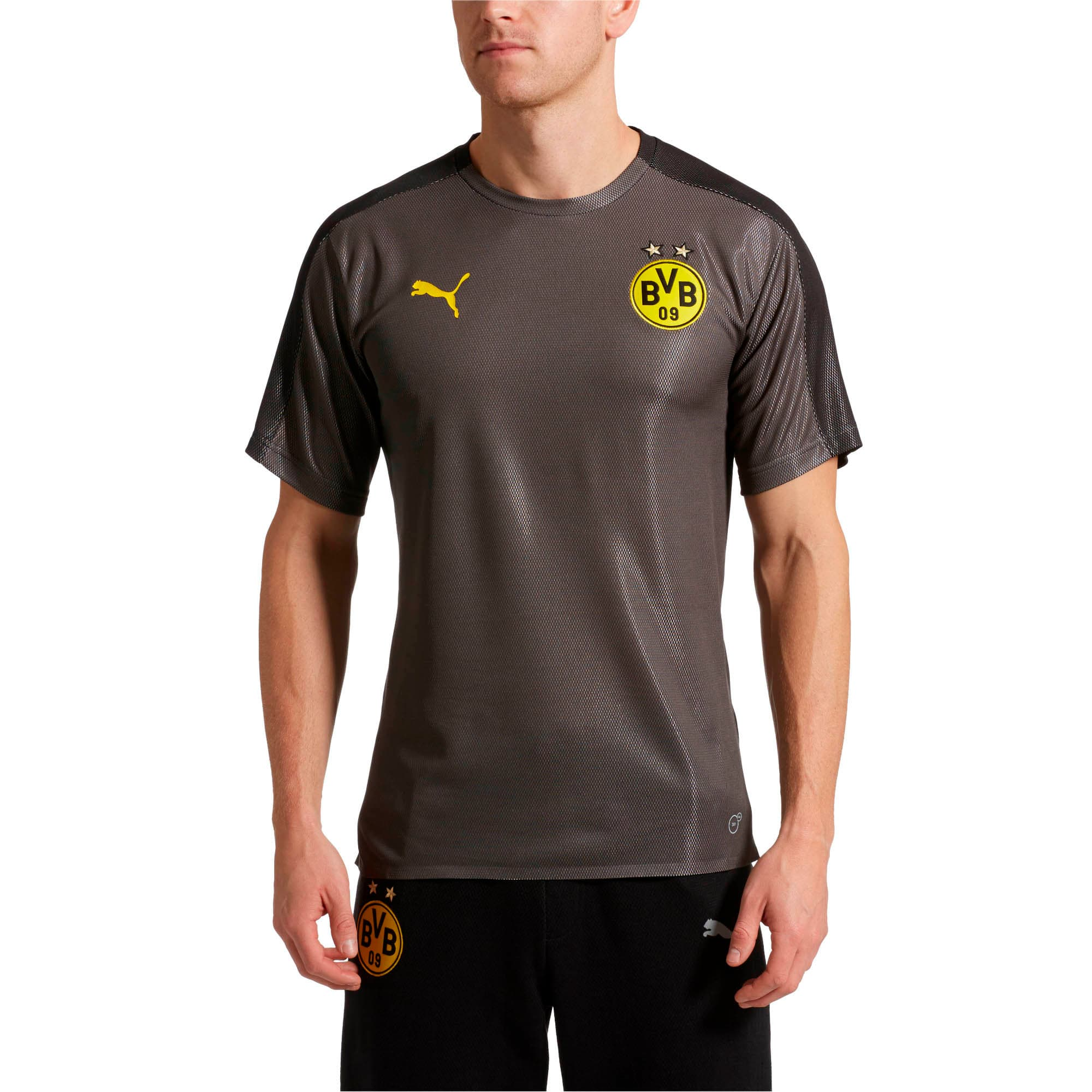 Thumbnail 1 of BVB Men's Stadium Jersey, Asphalt-Puma Black, medium