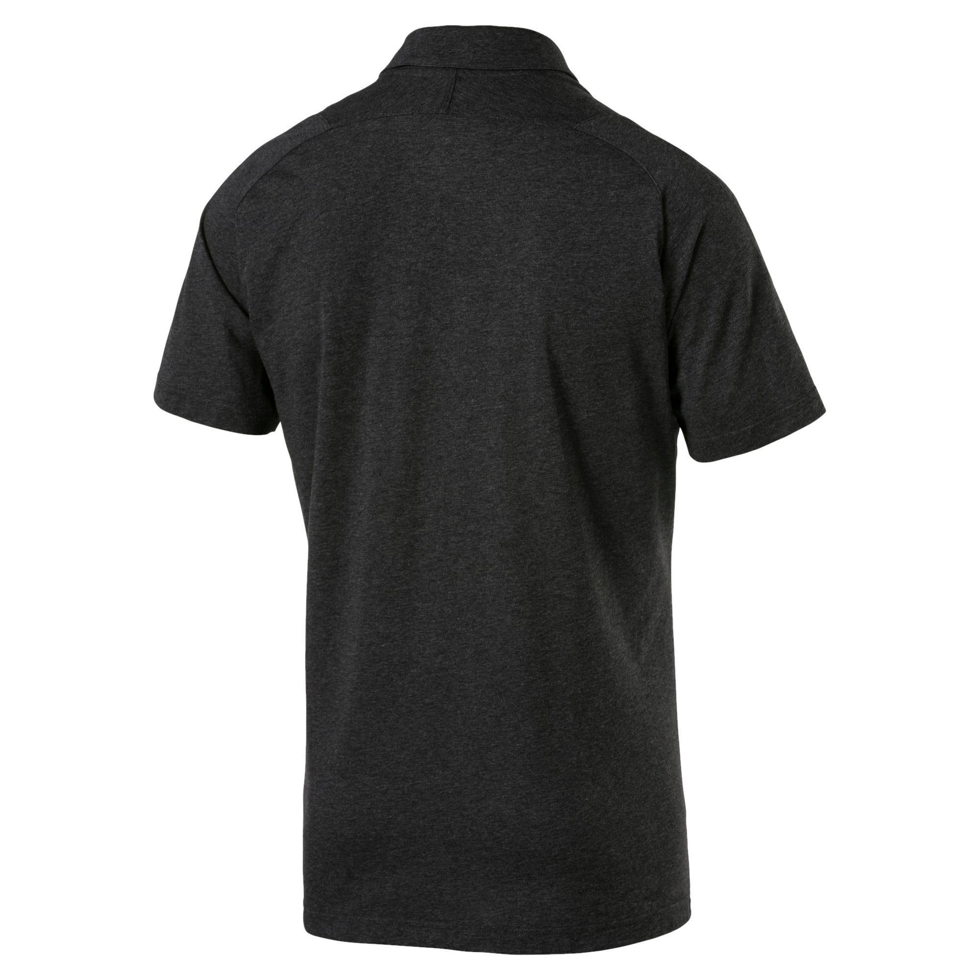 Thumbnail 4 of BVB Casual Polo without Sponsor Logo Pum, Dark Gray Heather, medium-IND