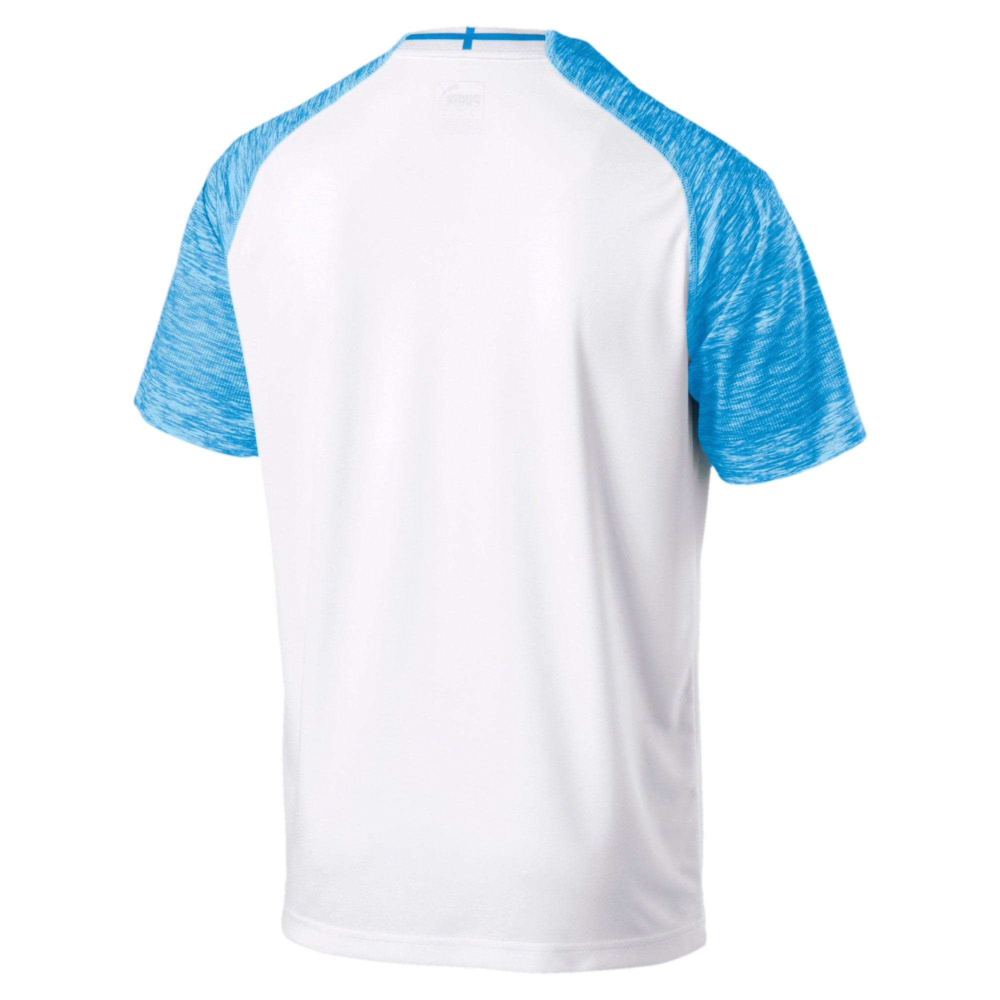 Miniatura 2 de Réplica de la camiseta de local delOlympique de Marseillepara hombre, Puma White-Bleu Azur, mediano