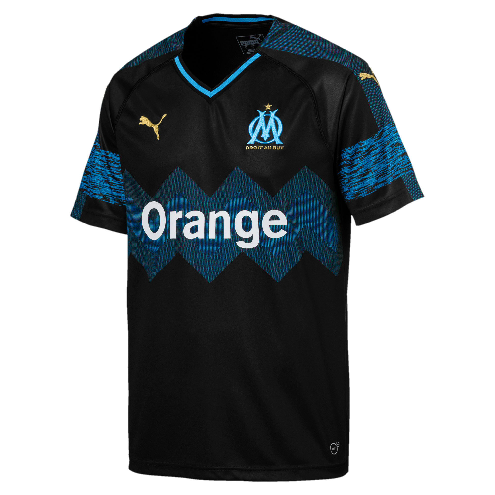 Thumbnail 1 of Olympique de Marseille Men's Away Replica Jersey, Puma Black-Bleu Azur, medium