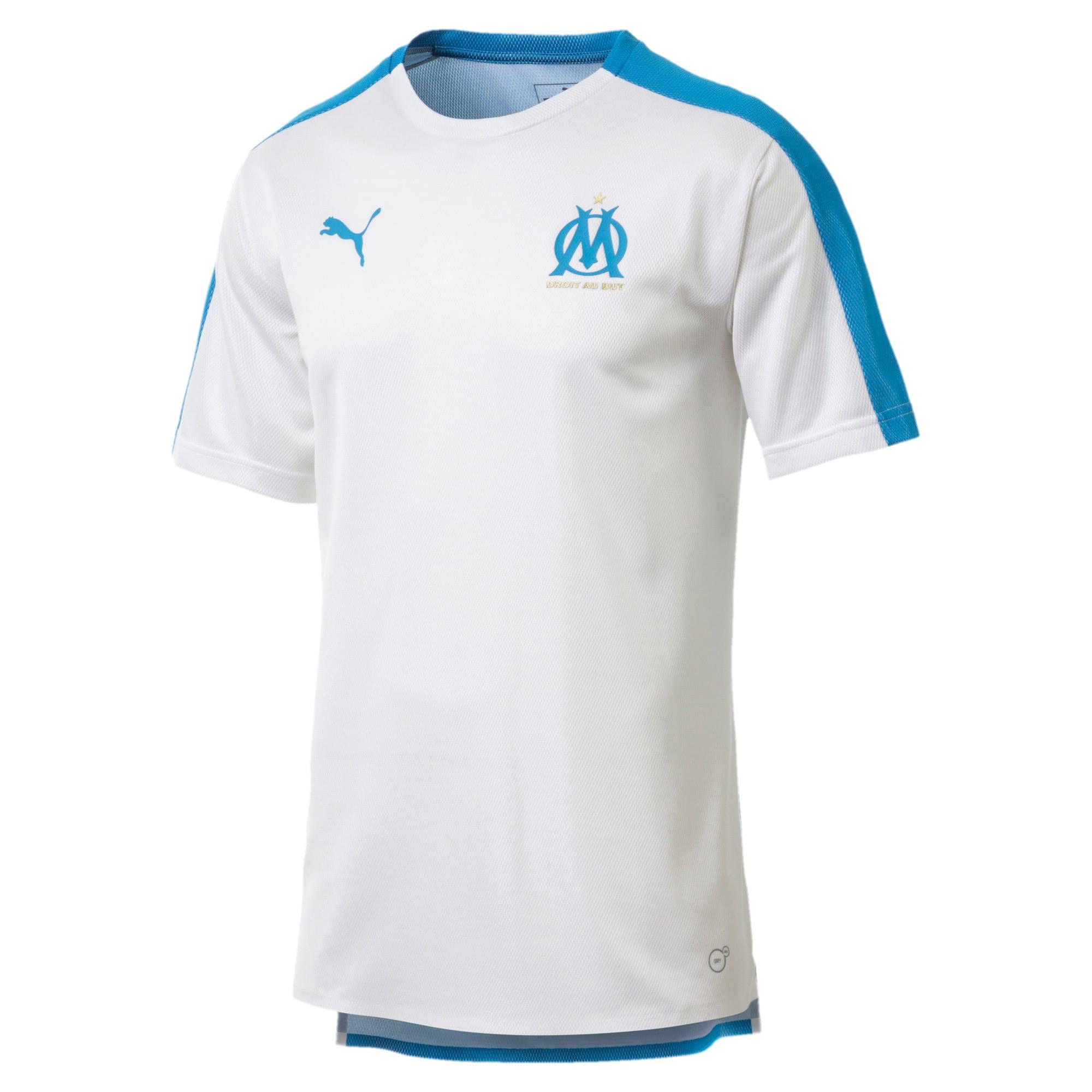 Thumbnail 1 of Olympique de Marseille Men's Stadium Jersey, Puma White-Bleu Azur, medium
