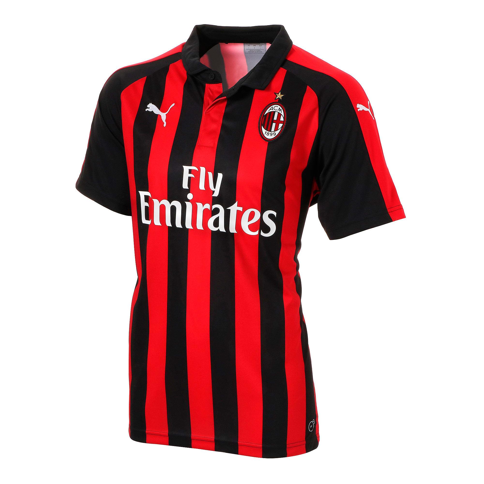 Thumbnail 1 of AC MILAN SS ホーム レプリカシャツ 半袖, Tango Red-Puma Black, medium-JPN