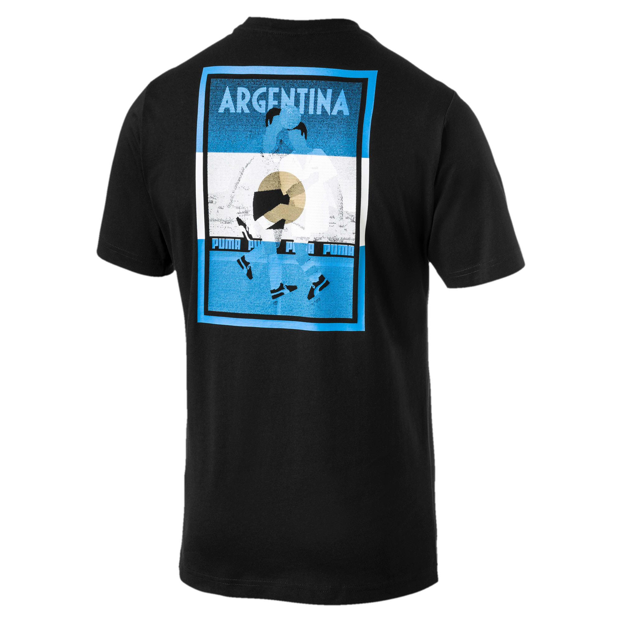 Thumbnail 3 of Copa America Men's Cotton Tee, Puma Black-Argentina, medium