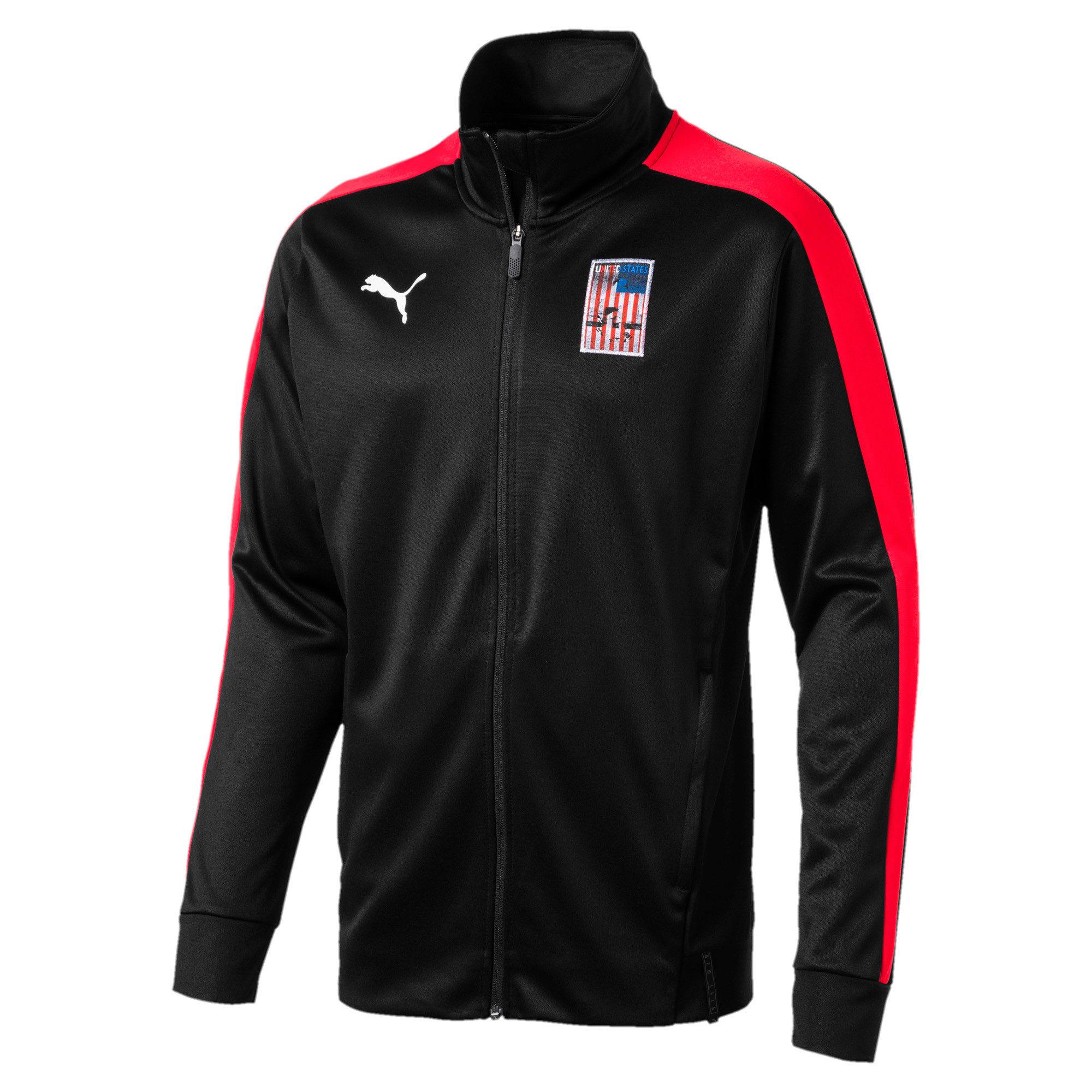 Thumbnail 2 of Copa America Men's T7 Track Jacket, Puma Black-Puma Red, medium