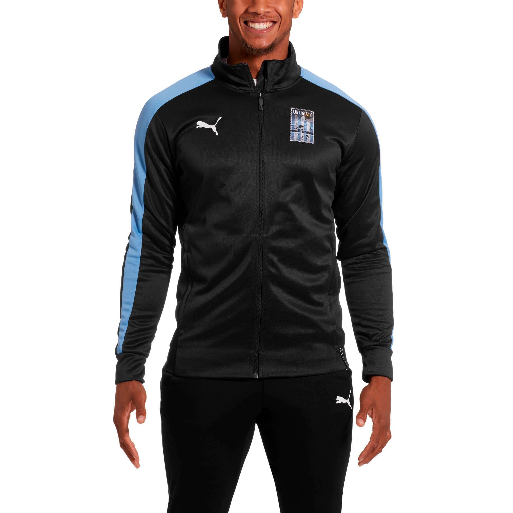 Thumbnail 1 of Copa America Men's T7 Track Jacket, Puma Black-Silver Lake Blue, medium