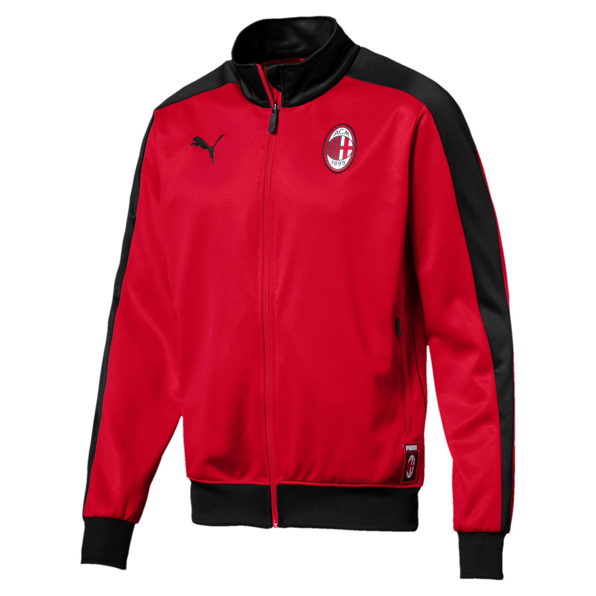 Thumbnail 1 of AC Milan Men's T7 Track Jacket, Tango Red-Puma Black, medium