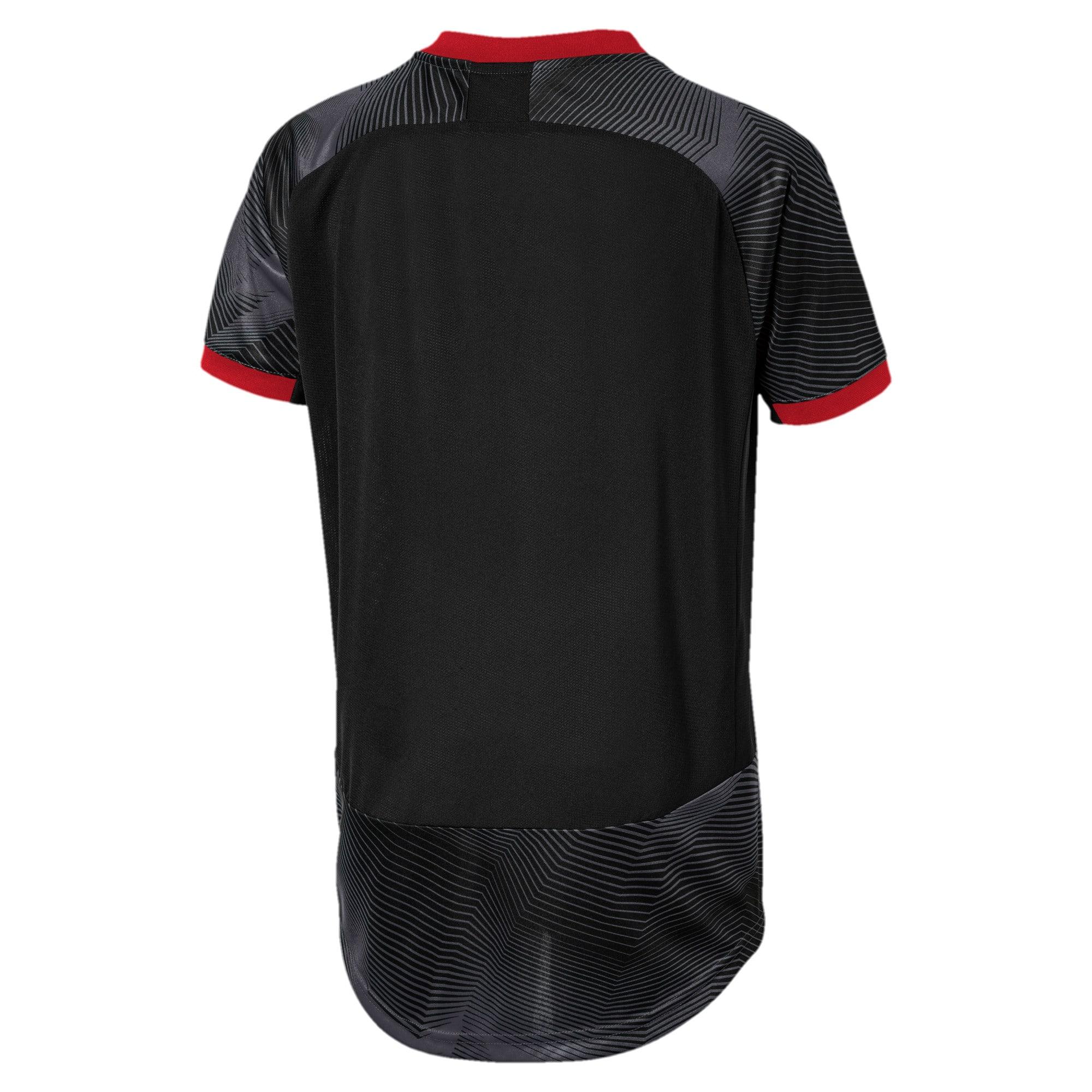Thumbnail 2 of AC Milan Stadium Jersey JR, Puma Black-Dark Shadow, medium