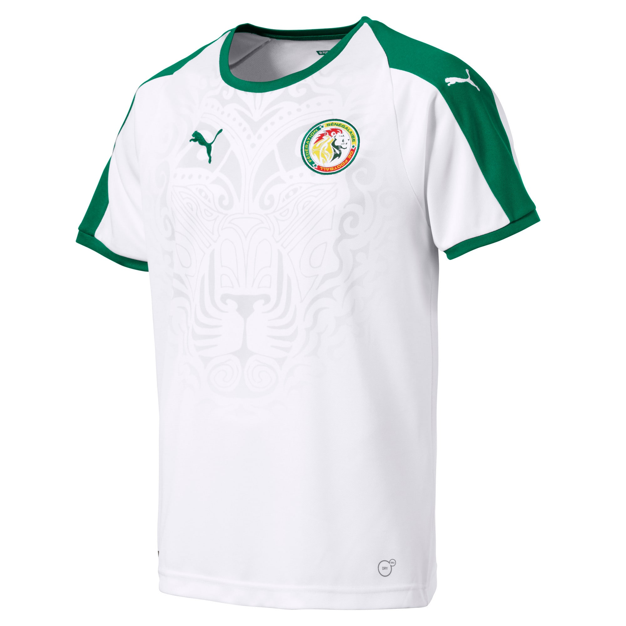 Thumbnail 1 of Senegal Home Replica Jersey, Puma White-Pepper Green, medium