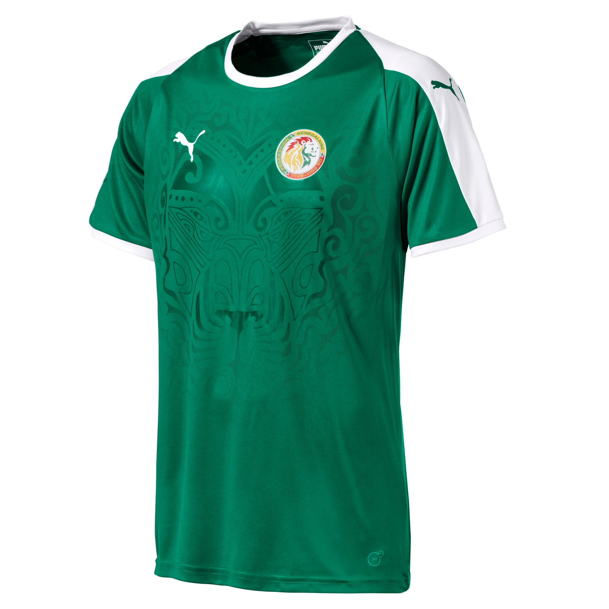Thumbnail 1 of Senegal Men's Away Replica Jersey, Pepper Green-Puma White, medium
