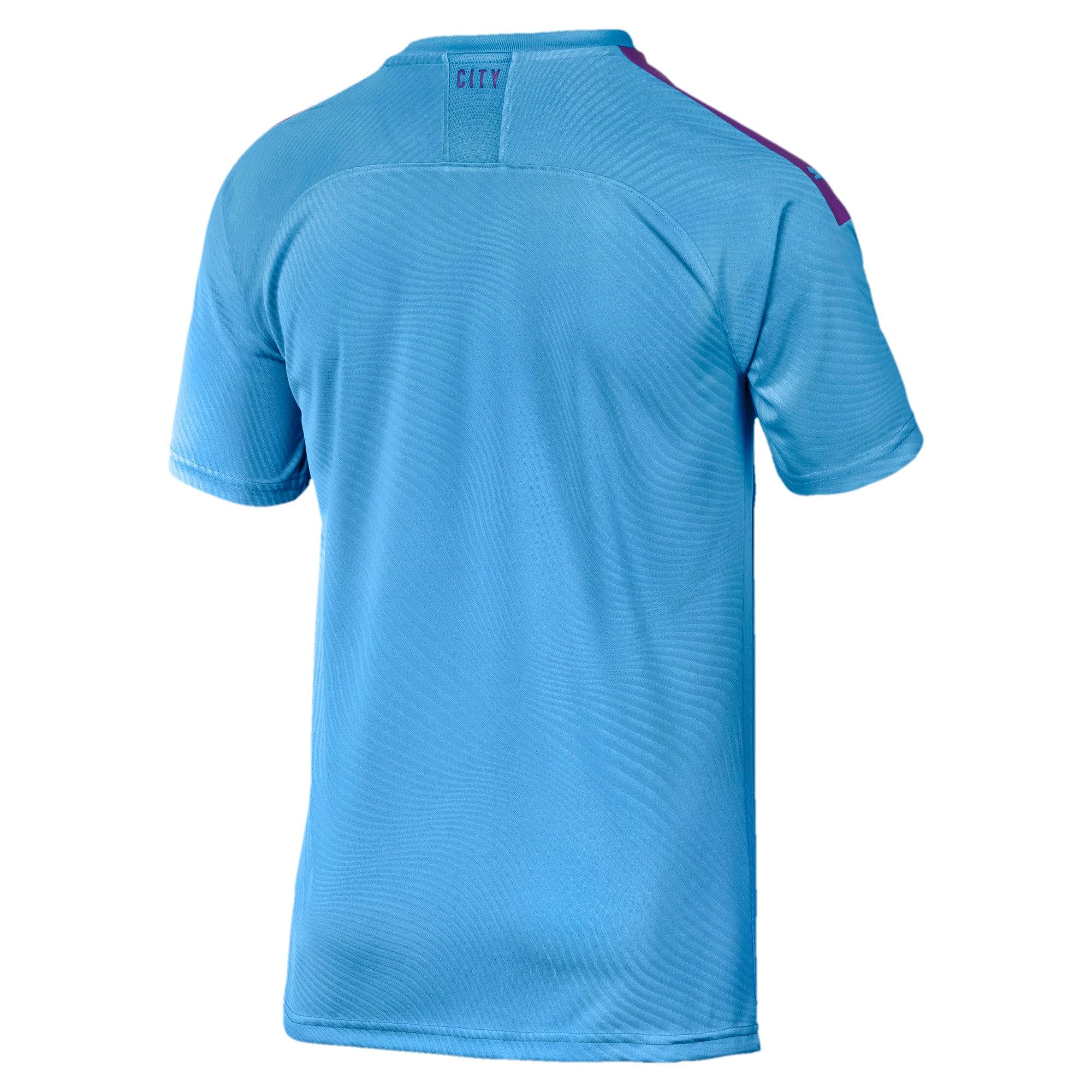 Miniatura 2 de Camiseta original de local de Manchester City FC para hombre, TeamLightBlue-TillandsiaPurp, mediano