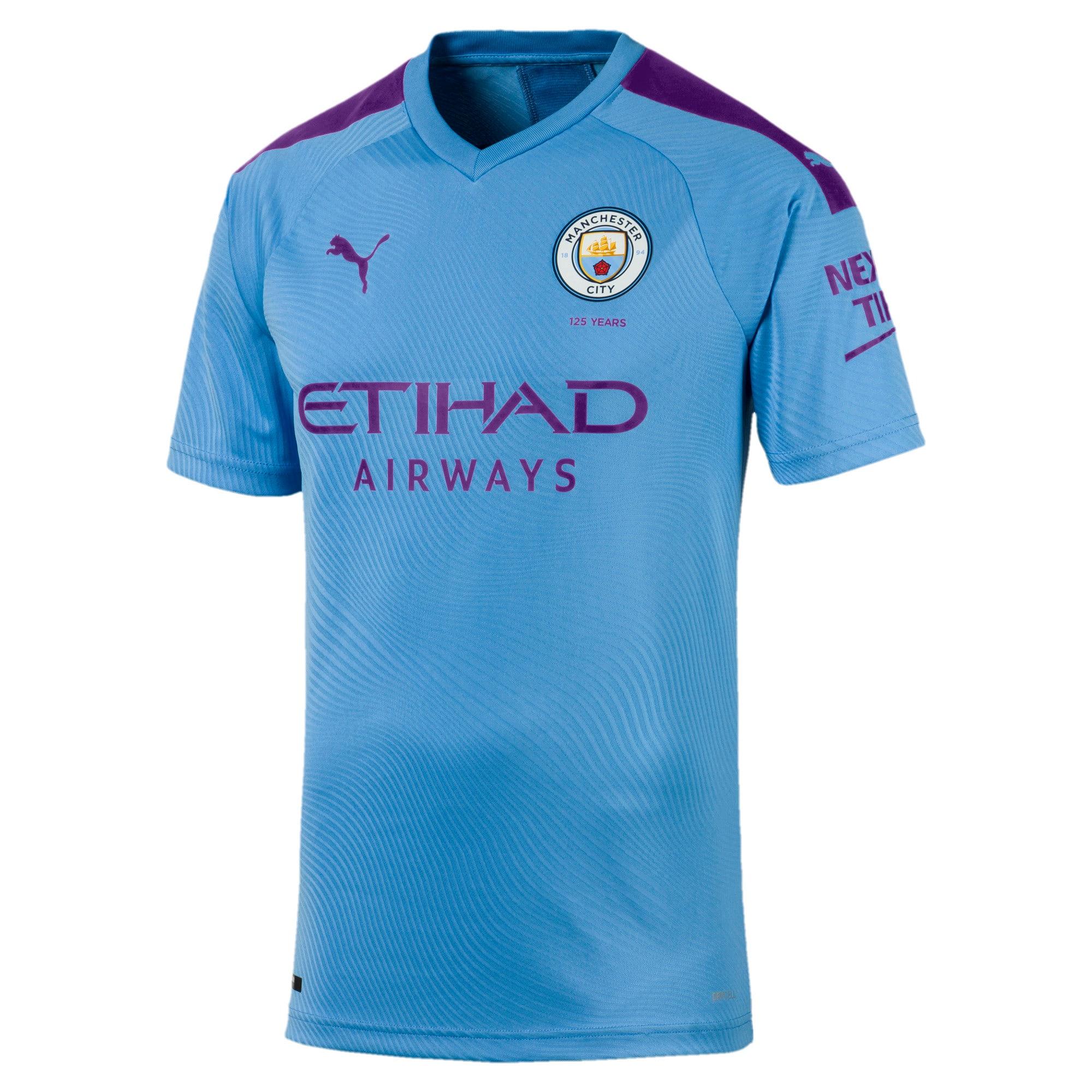 Miniatura 1 de Camiseta original de local de Manchester City FC para hombre, TeamLightBlue-TillandsiaPurp, mediano