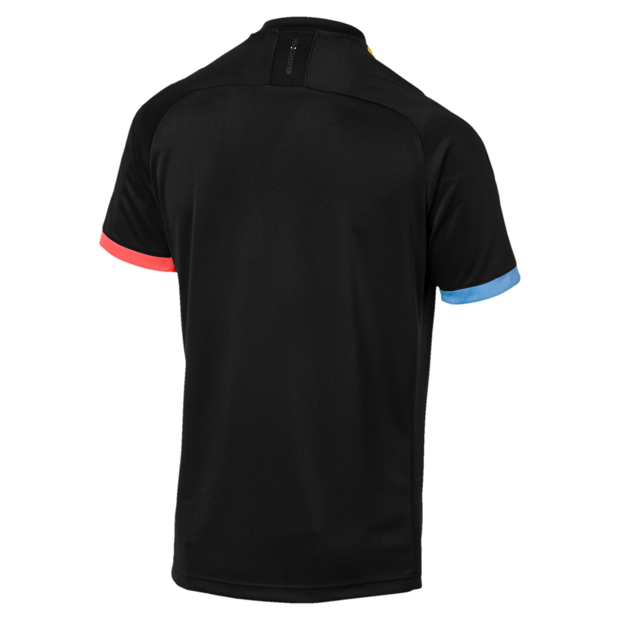 Thumbnail 2 of Man City Short Sleeve Men's Away Replica Jersey, Puma Black-Georgia Peach, medium